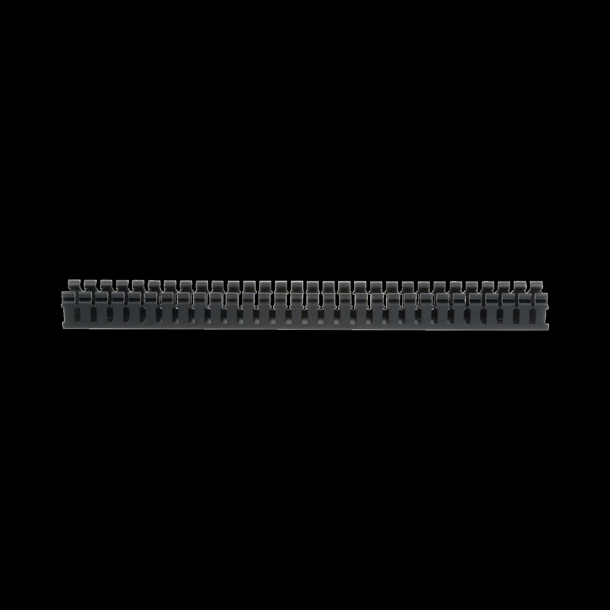 Canaleta Ranurada de PVC sin Tapa, Tipo H (Tapa Abisagrada), 2 in de Ancho, 2 in de Alto y 1828.8 mm de Largo, Color Negro