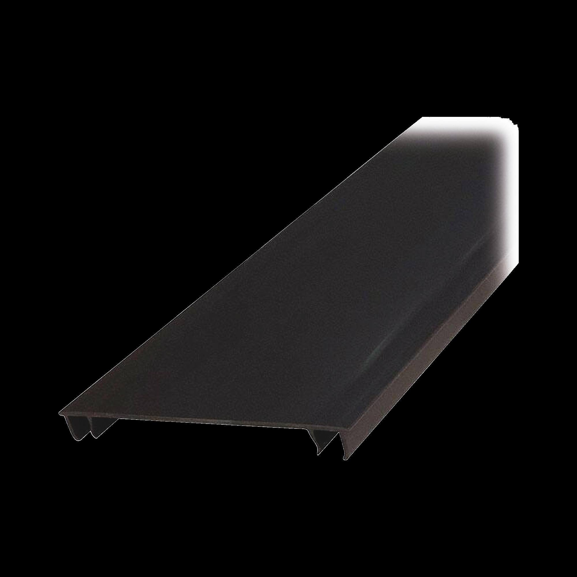Tapa para Canaleta Ranurada Tipo H, de 2 in de Ancho, 1828.8 mm de Largo, Color Negro