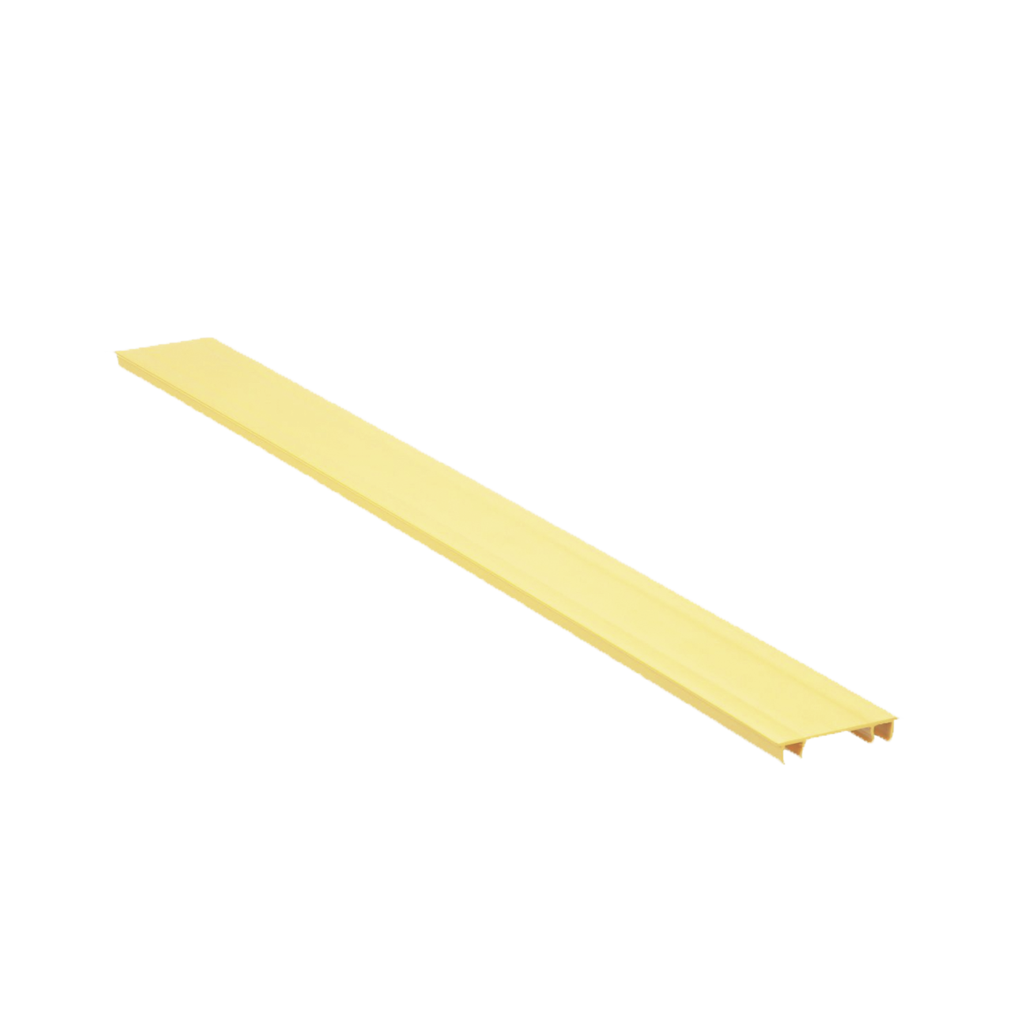 Tapa para Canaleta Ranurada Tipo H, de 2 in de Ancho, 1828.8 mm de Largo, Color Amarilo
