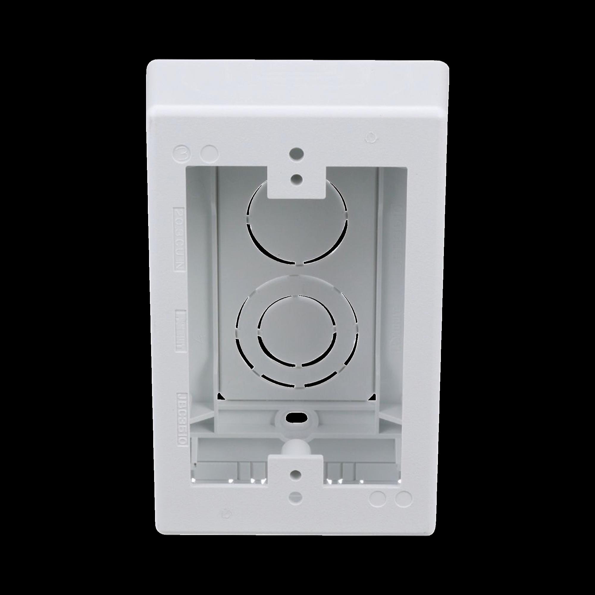 Caja de Pared Superficial, uso Universal con Placas de Pared, Con Cinta Adhesiva, Color Blanco