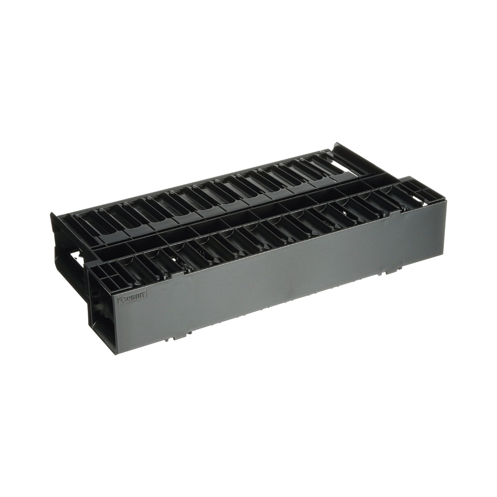 Organizador de Cables Horizontal NetManager, Doble (Frontal y Posterior), Para Rack de 19in, 2UR
