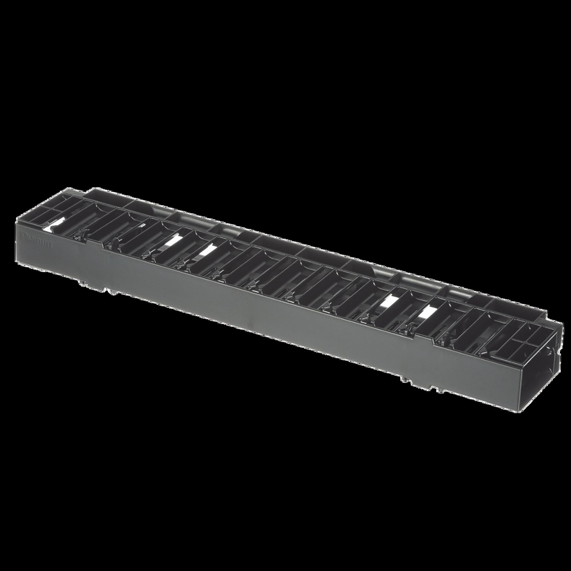 Organizador de Cables Horizontal NetManager, Sencillo (Solo Frontal), Para Rack de 19in, 1UR