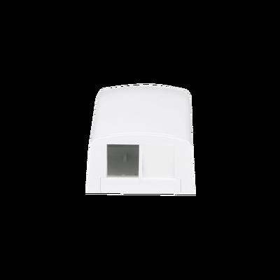 Caja de Montaje en Superficie, Para 2 Módulos Keystone, Color Blanco