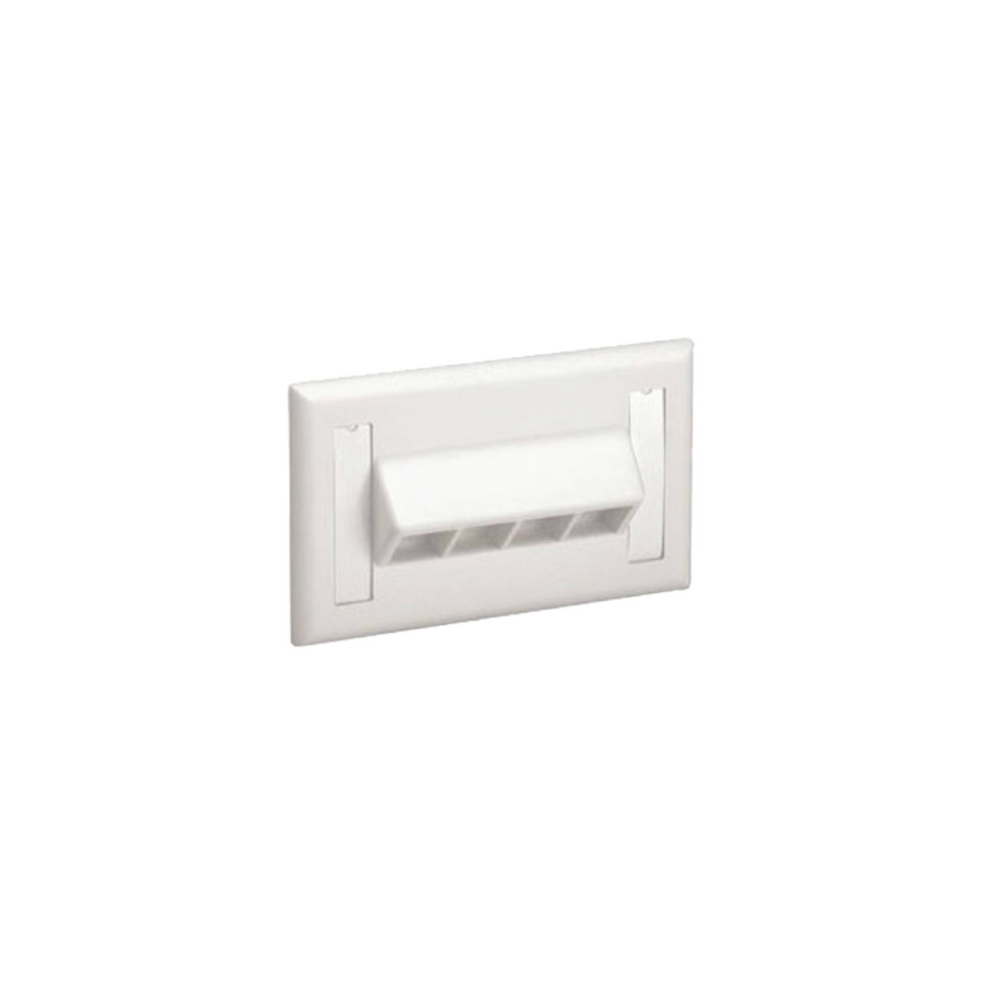 Placa de Pared Horizontal, Salida Para 4 Puertos Keystone, Con Espacios Para Etiquetas, Color Blanco Mate