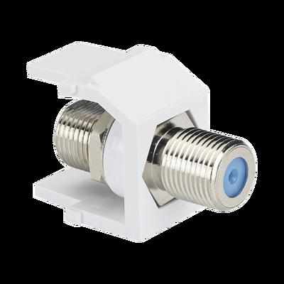 Módulo Acoplador Coaxial Tipo F, Keystone, de 75 Ohms, 3.0 GHz, Color Blanco