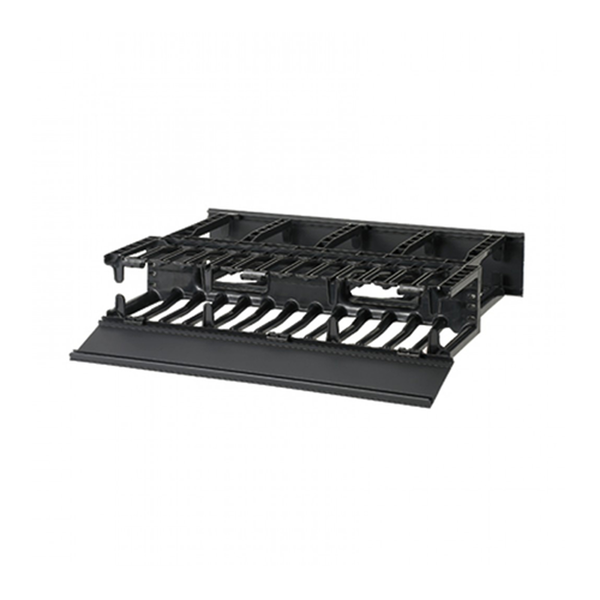 Organizador de Cables Horizontal NetManager, Doble (Frontal y Posterior), Para Rack de 19in, 2UR