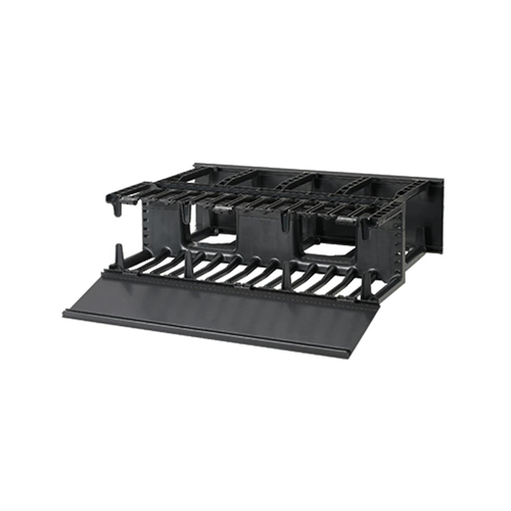 Organizador de Cables Horizontal NetManager, Doble (Frontal y Posterior), Para Rack de 19in, 3UR