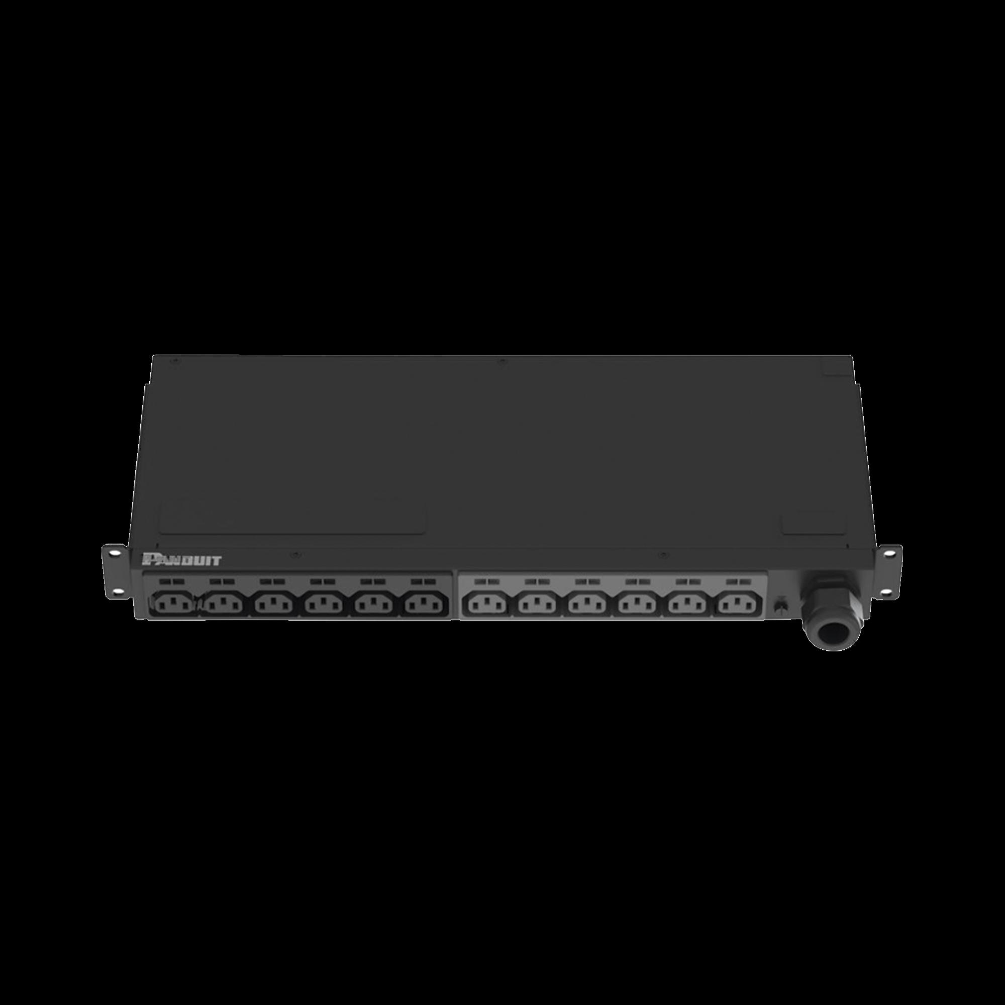 PDU Básico para Distribución de Energía, Enchufe de Entrada NEMA L6-30P, Con 13 Contactos C13, Instalación Horizontal de 19in, 1UR, 20 Amp, 208 Vca