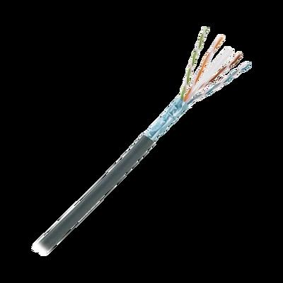 Bobina de Cable Planta Externa con Gel, de 4 pares, Cat6A, Blindado F/UTP, Color Negro, 305m