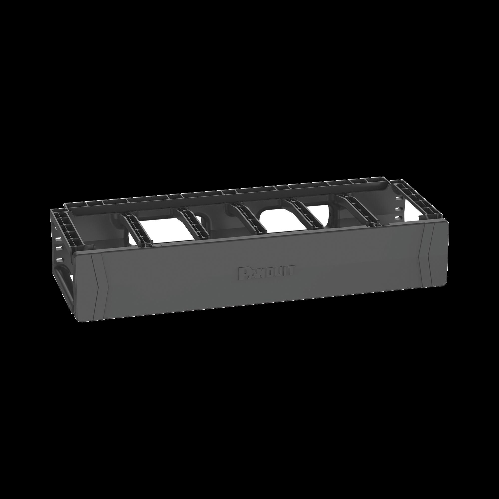 Organizador de Cables Horizontal PatchRunner?, Sencillo (Solo Frontal), Para Rack de 19in, 2UR
