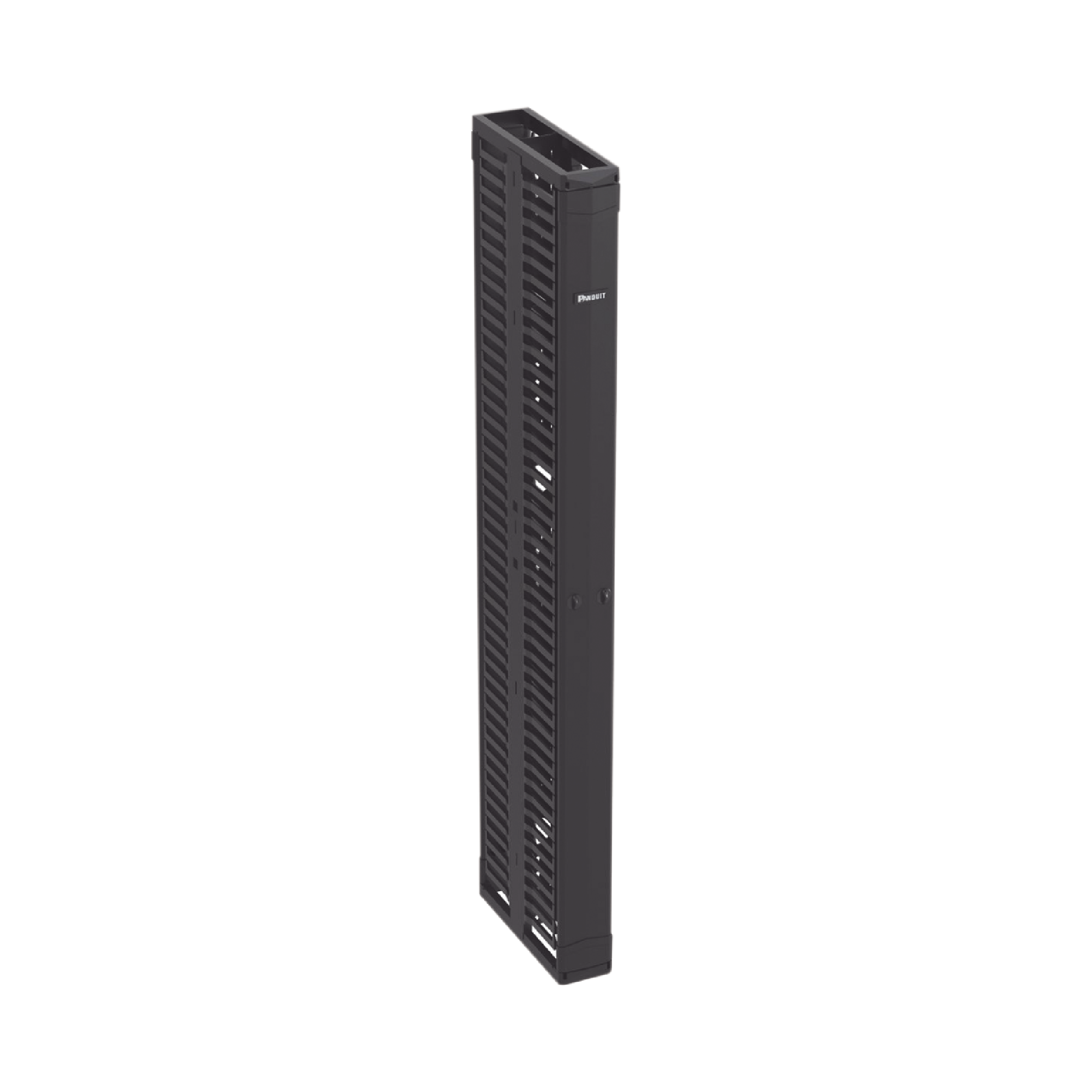 Organizador Vertical Doble PatchRunner, Para Rack Abierto de 45 Unidades, 152.4 mm de Ancho, Color Negro