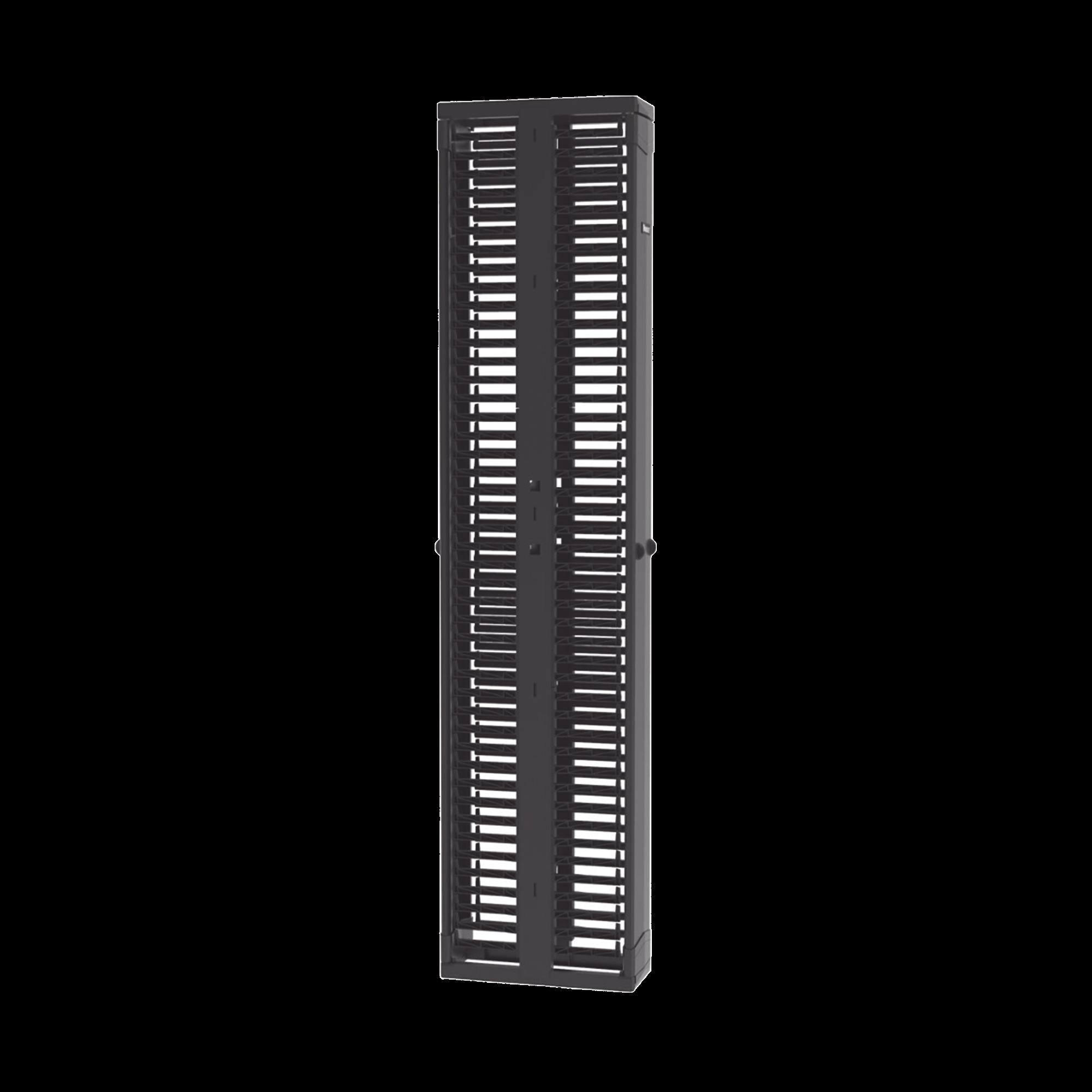 Organizador Vertical Doble PatchRunner?, Para Rack Abierto de 45 Unidades, 8in de Ancho, Color Negro