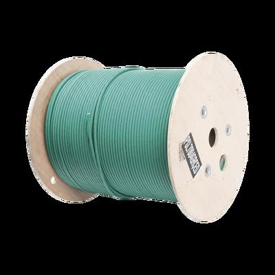 Bobina de Cable Blindado S/FTP de 4 pares, Cat7, Inmune a Ruido e Interferencias, LSZH (Bajo humo, Cero Halógenos), Color Verde, Bobina de 500 m