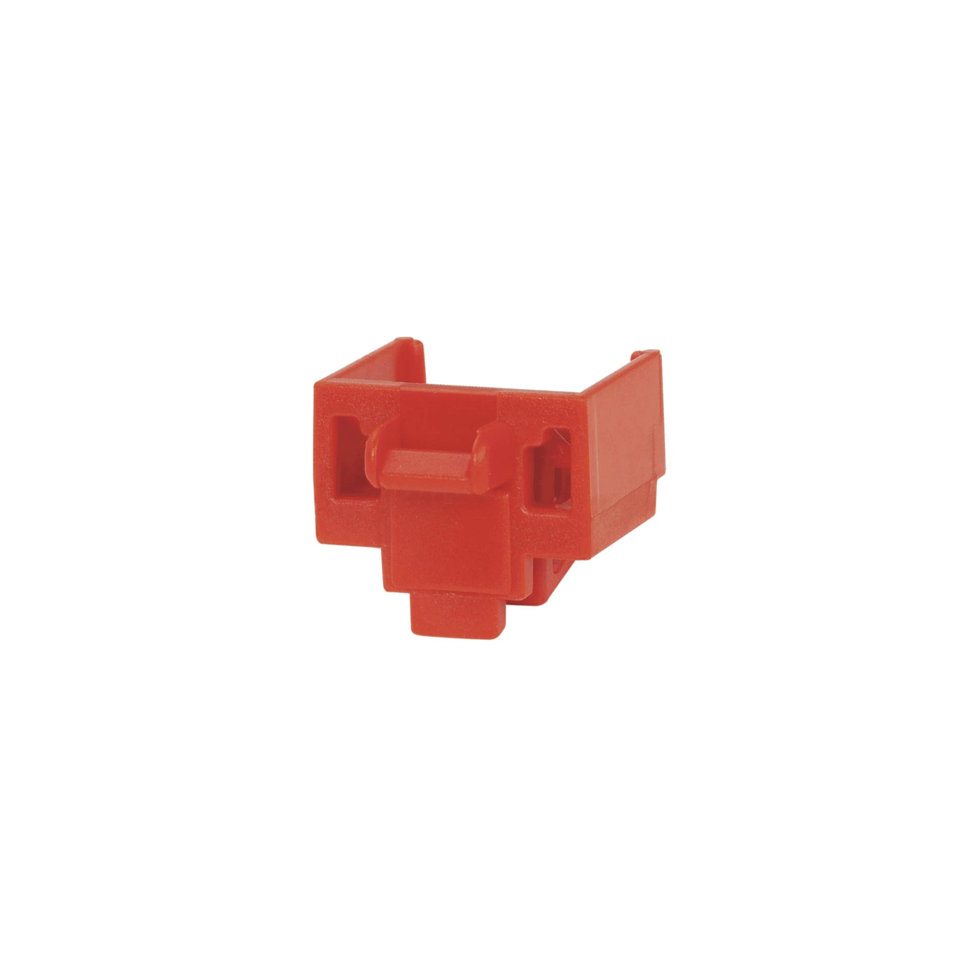 Kit de 10 Dispositivos para Bloquear Puertos RJ45, Color Rojo, Incluye Llave de Extracción