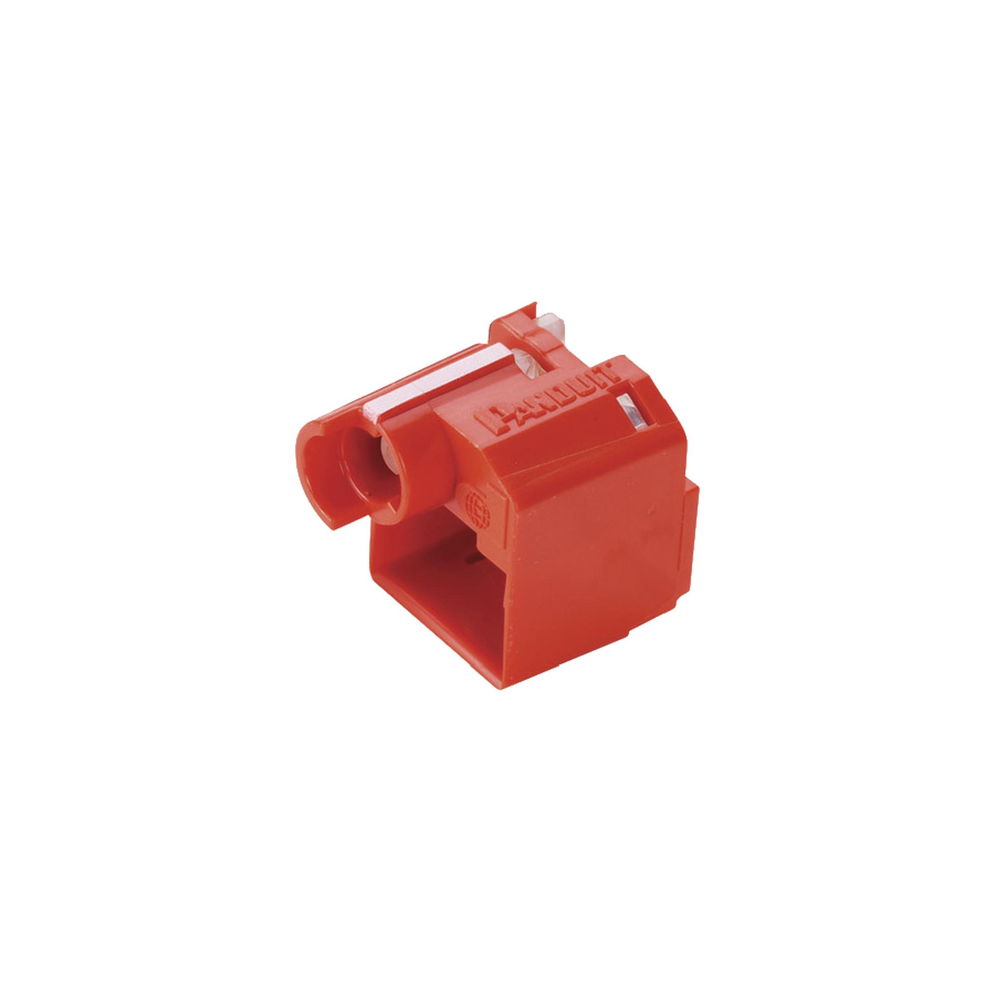 Kit de 10 Dispositivos para Impedir Desconexión de Plug RJ45, Color Rojo, Incluye Herramienta para Instalar/Retirar