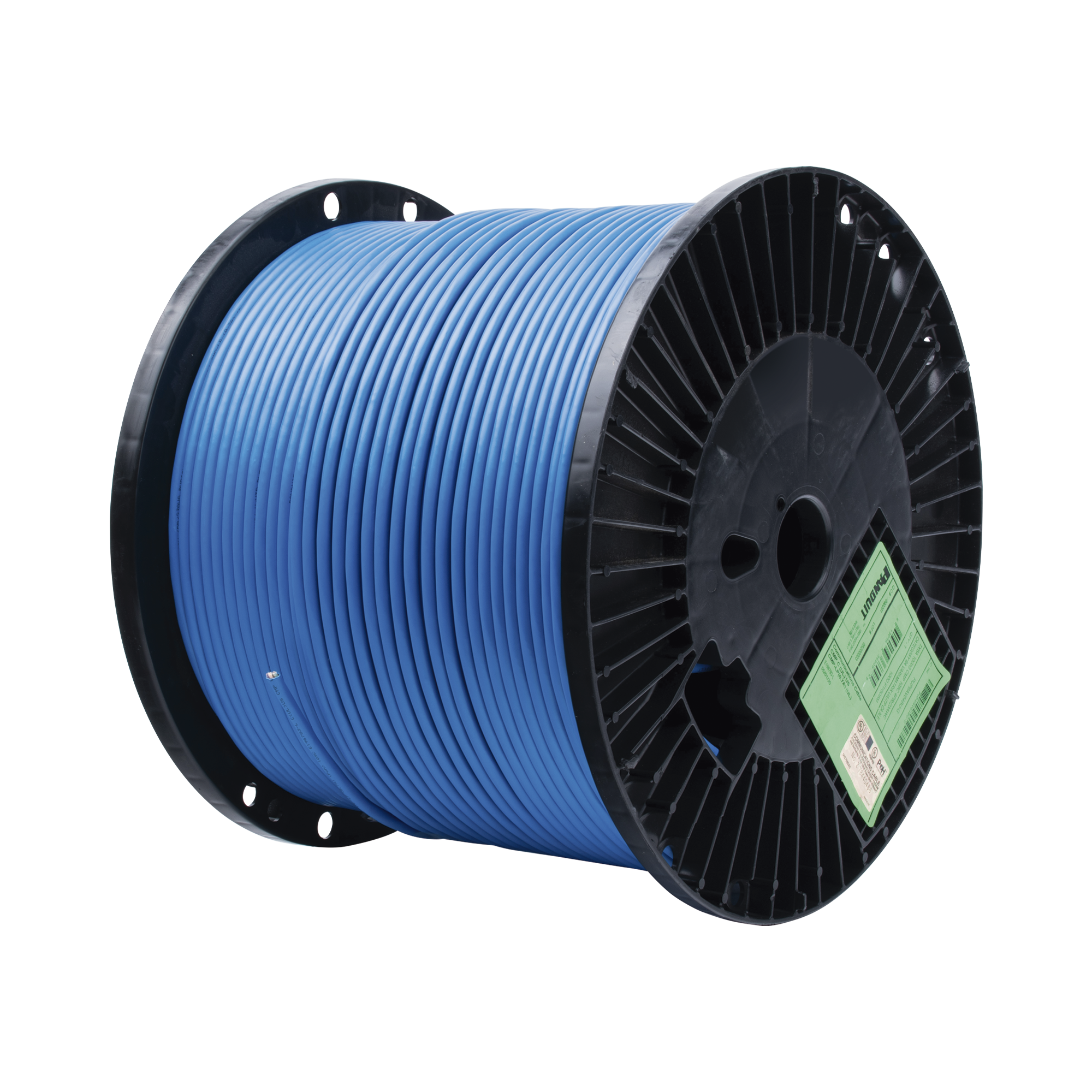 Bobina de Cable UTP de 4 Pares, Vari-MaTriX, Cat6A, 23 AWG, CMP (Plenum), Color Azul, 305m