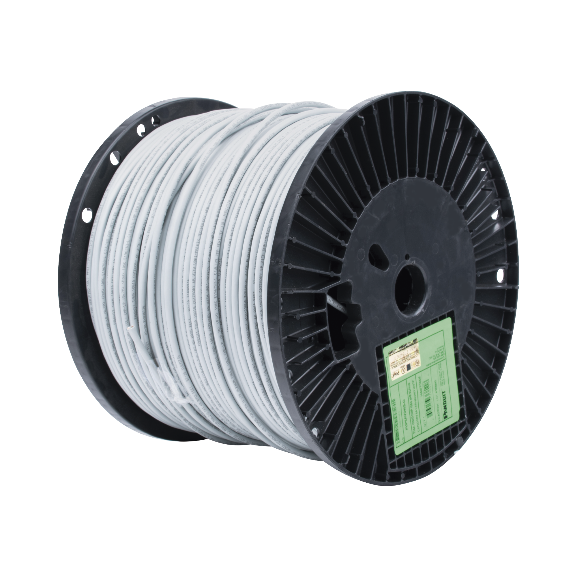 Bobina de Cable UTP de 4 Pares, Vari-MaTriX, Cat6A, 23 AWG, CMP (Plenum), Color Gris, 305m