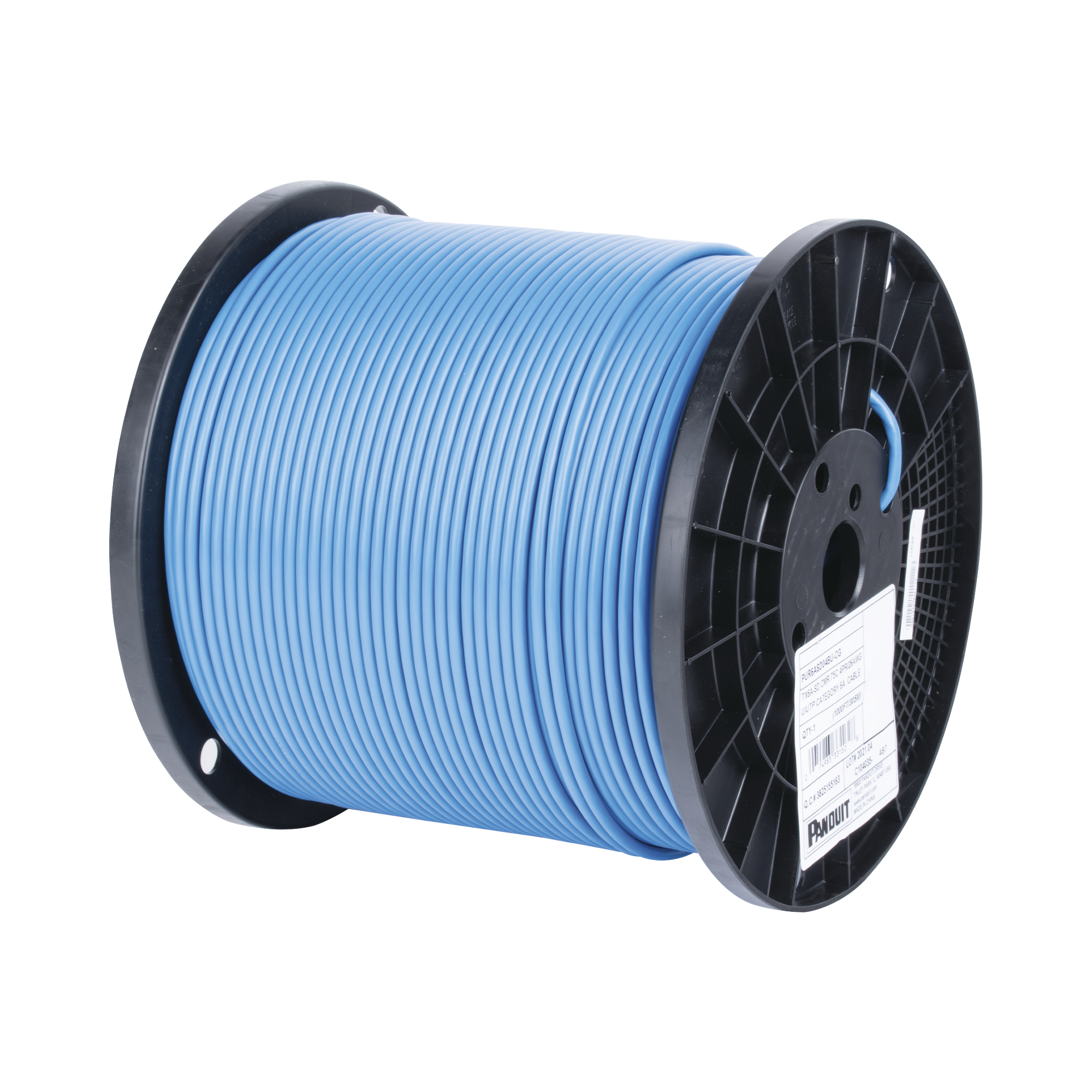 Bobina de Cable UTP de 4 Pares, MaTriX, Cat6A, 26 AWG, CMR (Riser), Color Azul, 305m