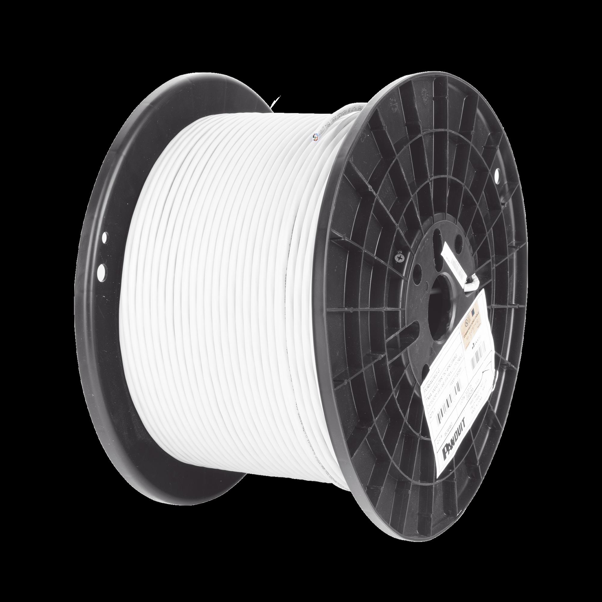Bobina de Cable UTP de 4 Pares, Vari-MaTriX, Cat6A, 23 AWG, CMR (Riser), Color Gris, 305m