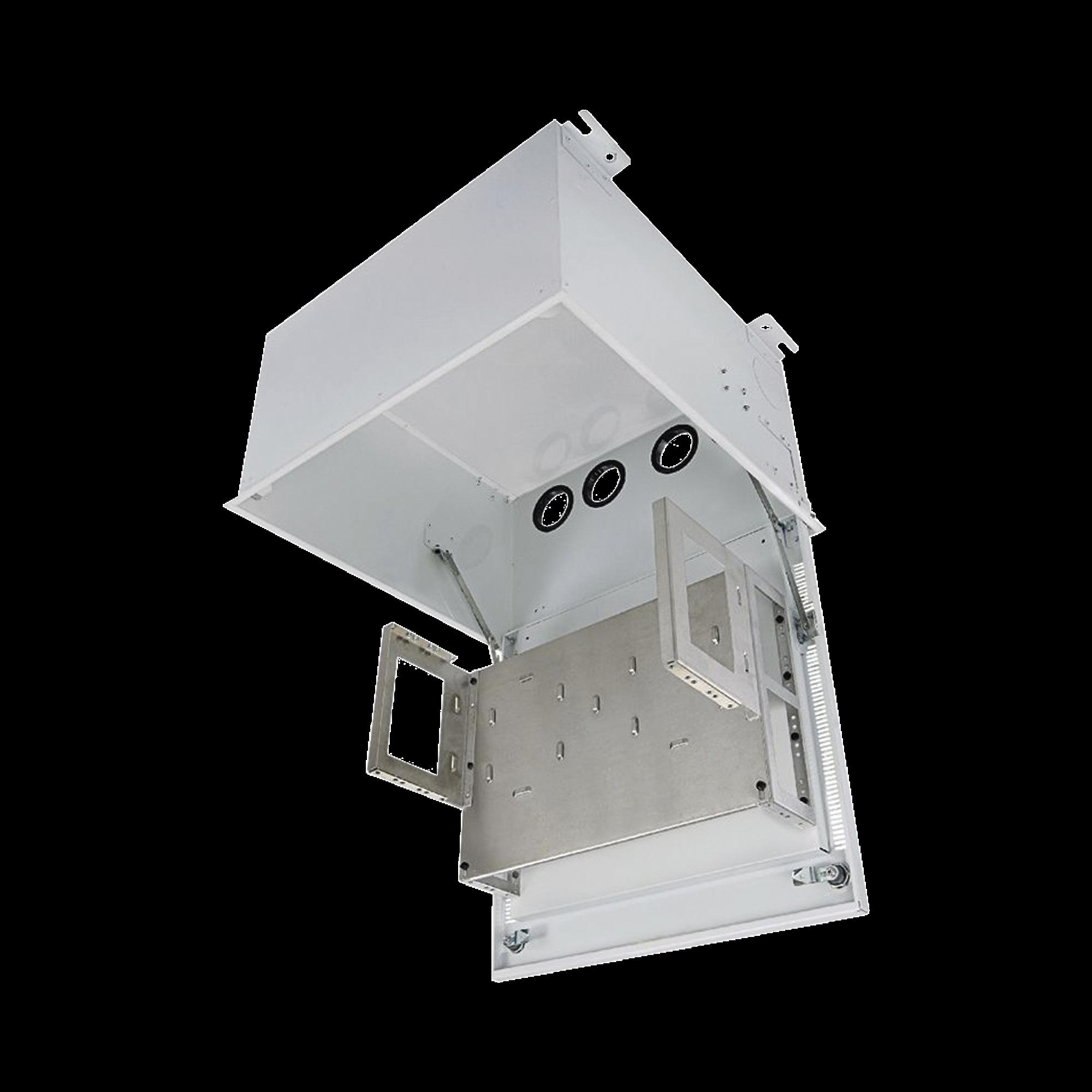 Gabinete PanZone Estandar, de Montaje en Techo, Con 8 UR Para Equipo Pasivo, Fabricado en Acero, Color Blanco