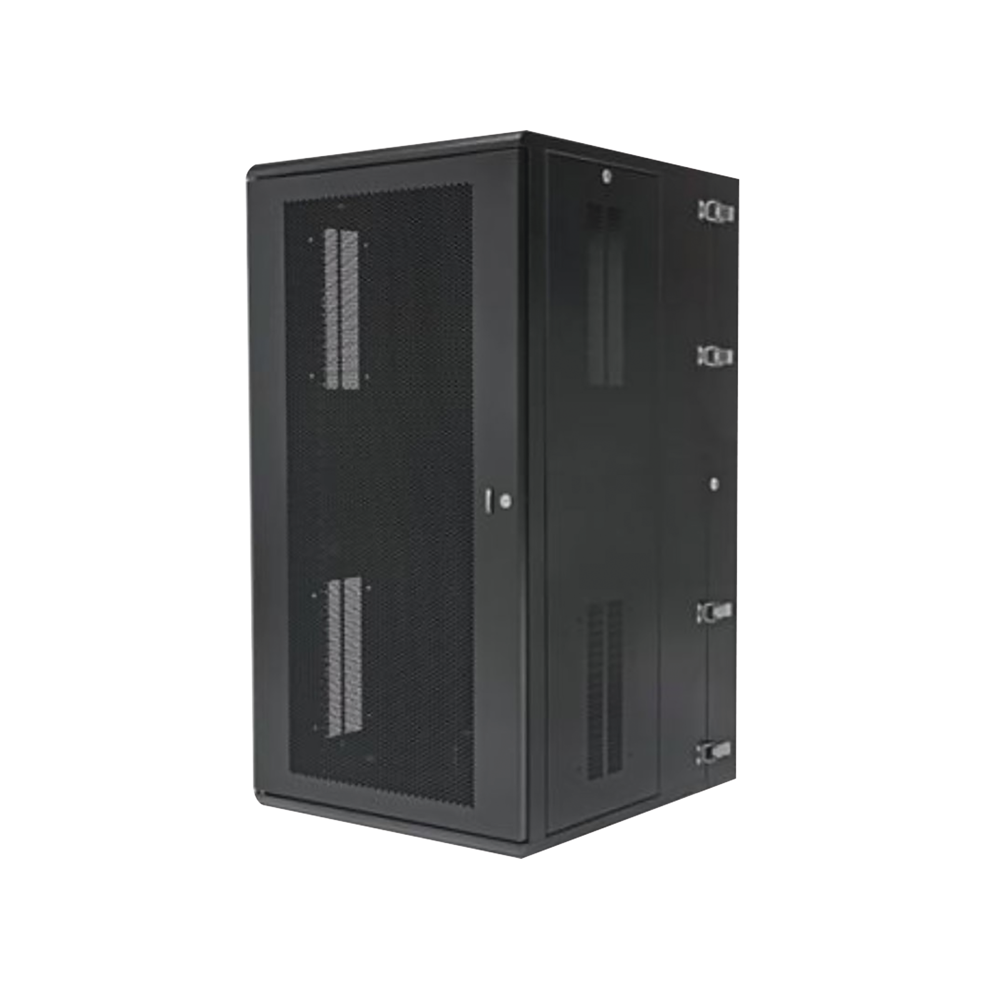 Gabinete PanZone de Montaje en Pared, de 19in, Puerta Ventilada, 26 UR, 635mm de Profundidad, Color Negro