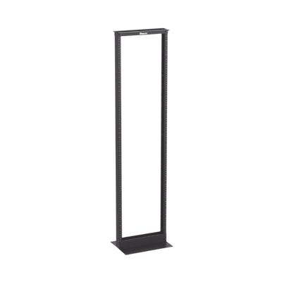 """Rack de Dos Postes Estándar de 19"""", Numerado, Fabricado en Aluminio y 45 Unidades de Rack, Color Negro"""