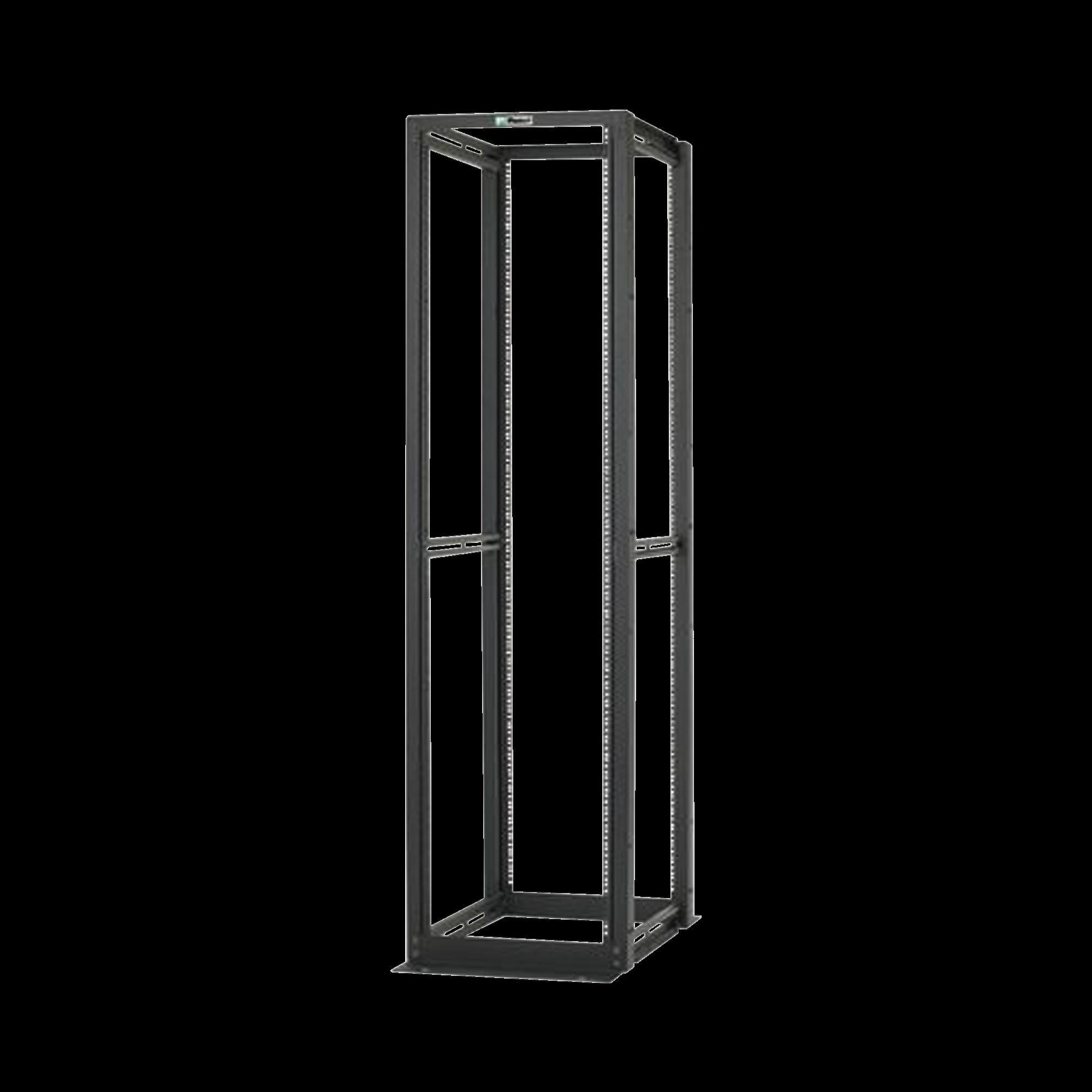Rack de Cuatro Postes Estándar de 19, Fabricado en Acero, Capacidad de Carga de 1134 kg, Profundidad de 30in, 45 UR