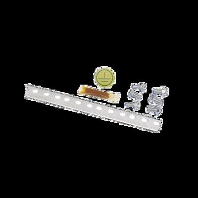 Kit de 10 Piezas de Barra Vertical para Tierra Física, de 2m de Largo, para Montaje en Rack