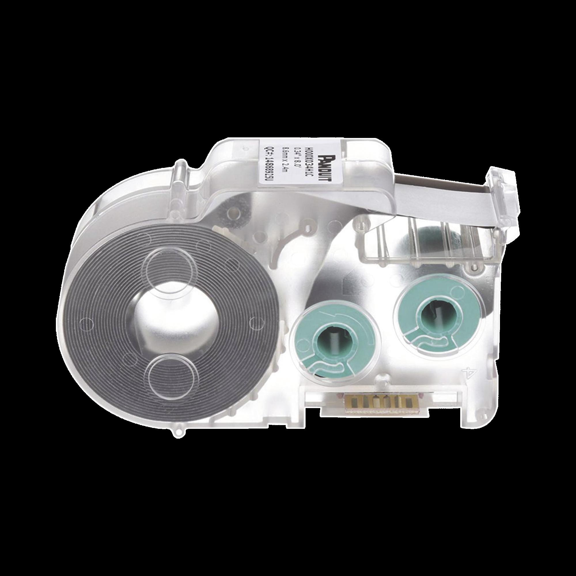 Casete de 225 Etiquetas Autolaminadas de 12.7 x 31.8 mm, para Cables de 3 a 7.1 mm de Diámetro, área de Impresión Color Blanco