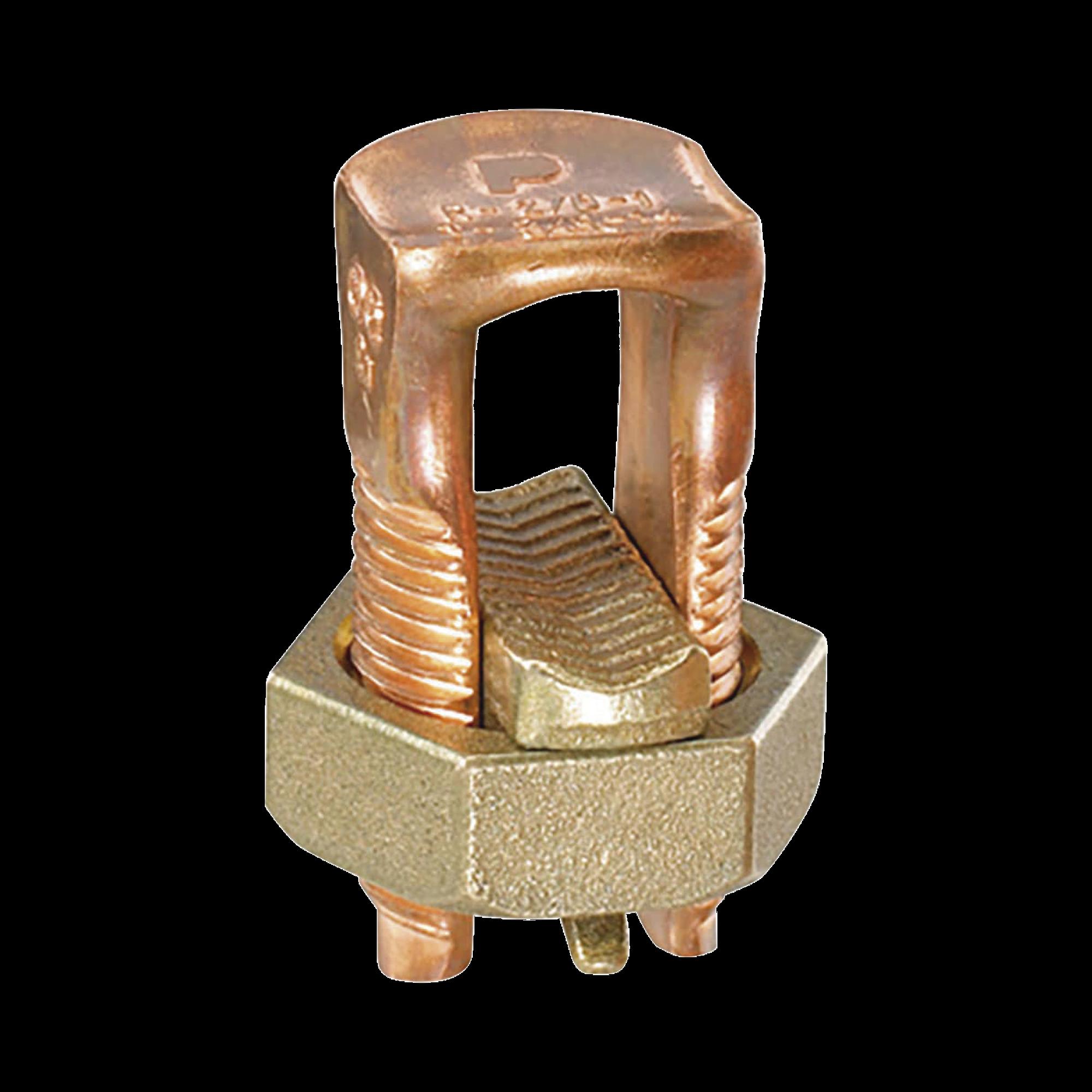 Conector Mecánico de Puesta a Tierra, de Cobre, Para Cables de Calibre 8 a 6 AWG