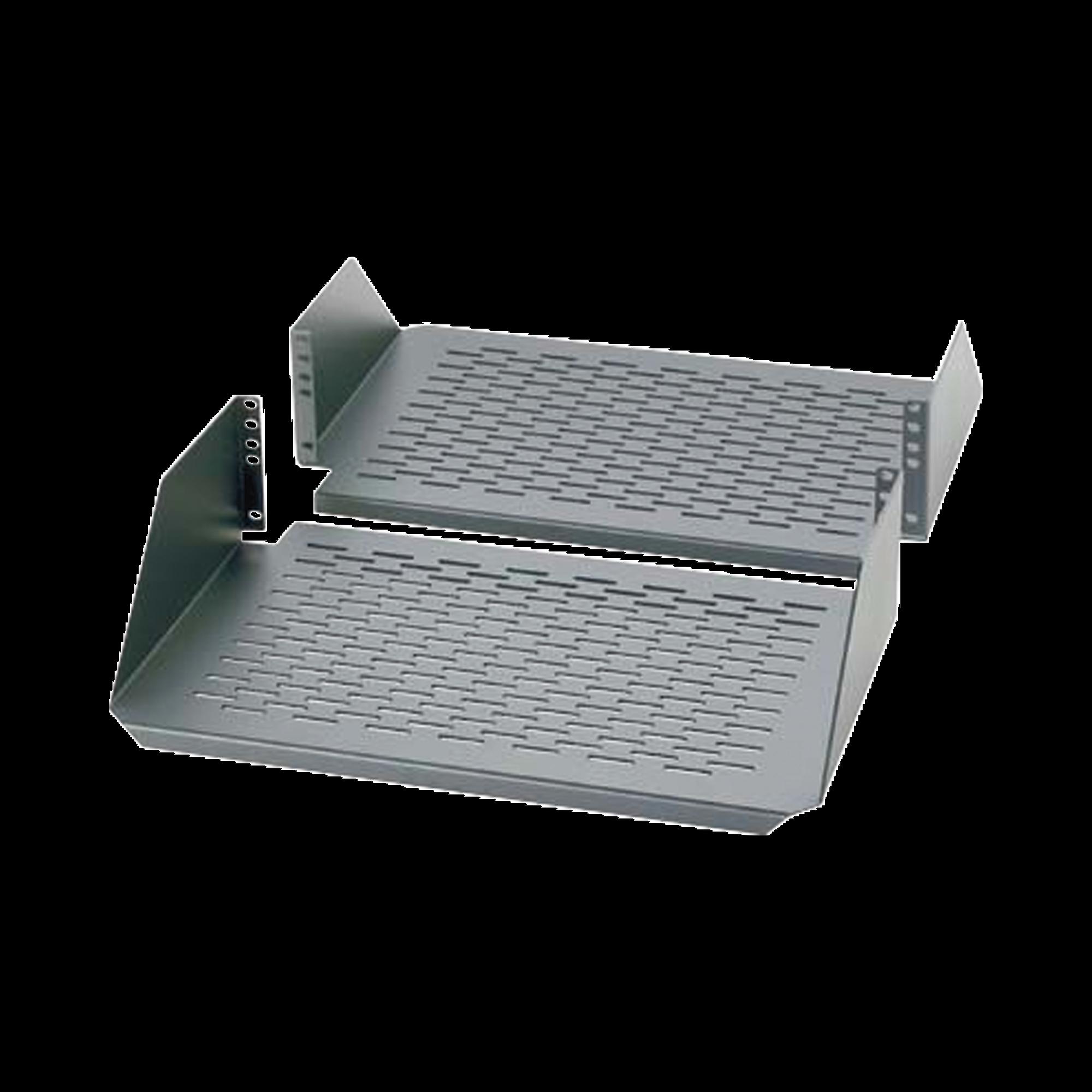 Charola Para Soportar Equipos en Rack de 19in, Ventilada, Frontal y Posterior, Capacidad de 136 Kg, 3UR