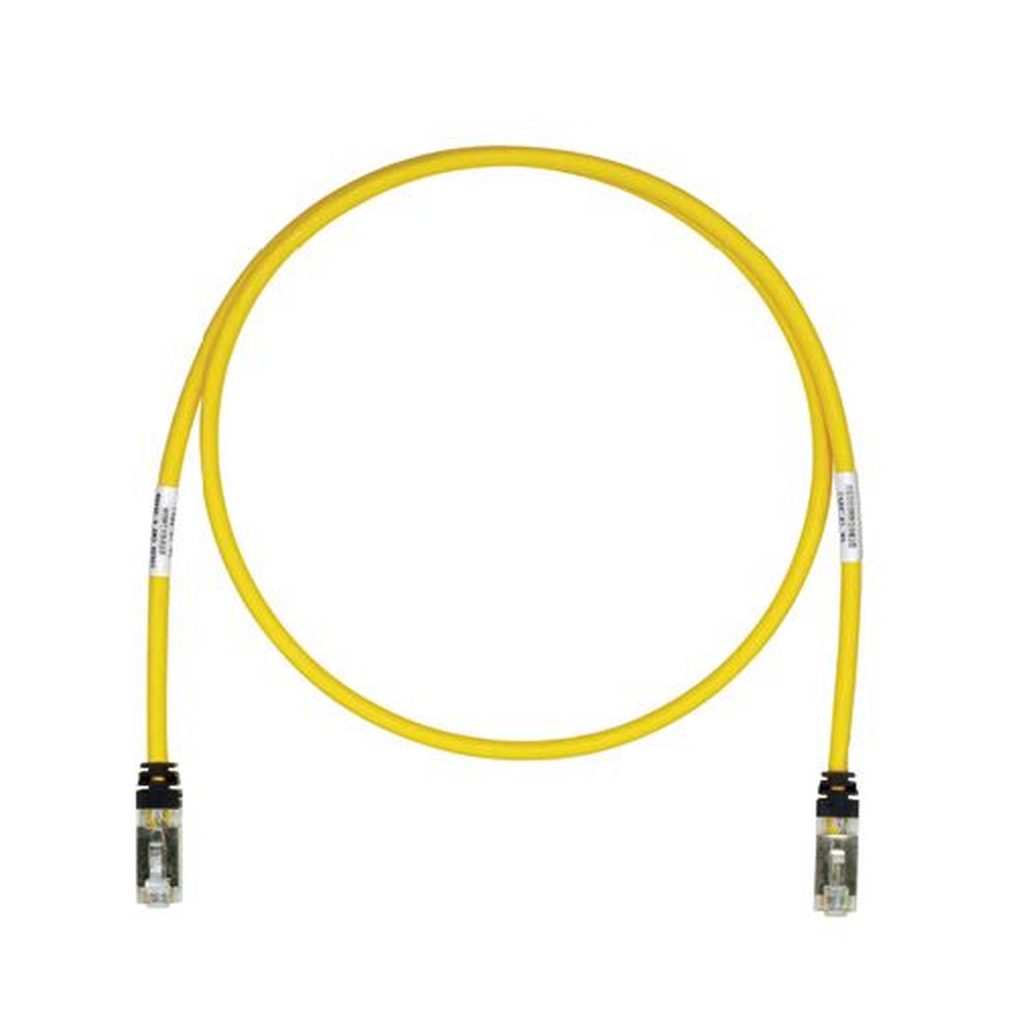 Patch Cord Cat6A, Blindado S/FTP, CM/LS0H, 5ft, Color Amarillo