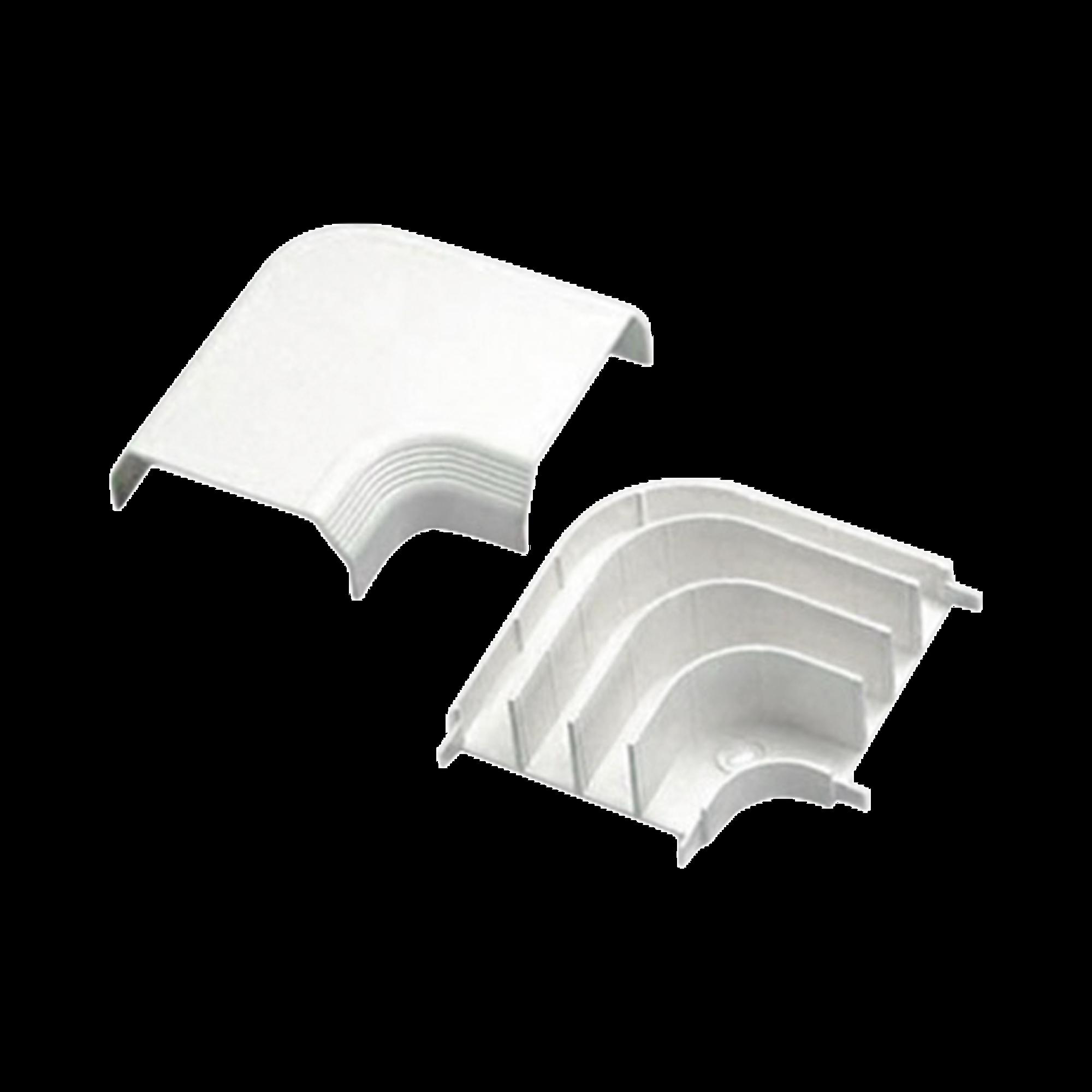 Curva de radio controlado, para uso con canaleta T70, Material PVC Rígido, Color Blanco Mate