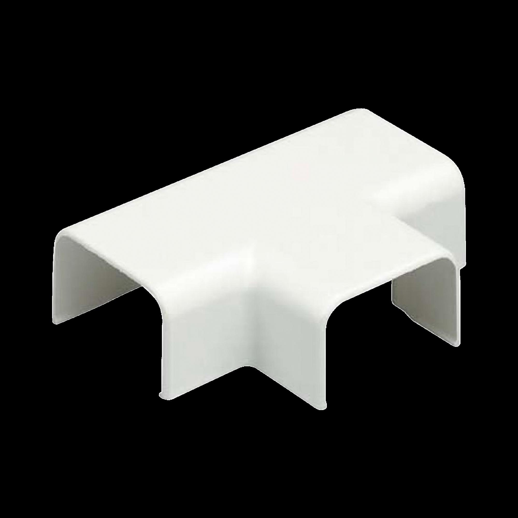 Conexión en T, para uso con canaleta LD3, material ABS, Color Blanco Mate
