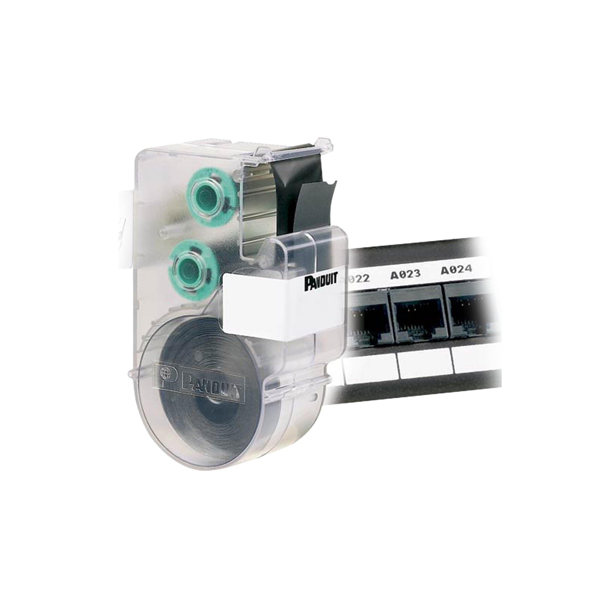 Casete de Etiquetas para Línea Ultimate ID de Panduit, Material Poliéster, no Adhesivas, Rollo de 7.6m, Color Blanco