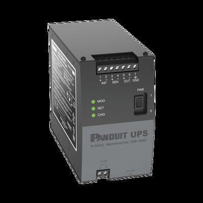 UPS Industrial de 100 Watts, de 24 Vcd, Instalación en Riel DIN Estándar de 35mm, Temperatura de operación de -40 a 60 ºC