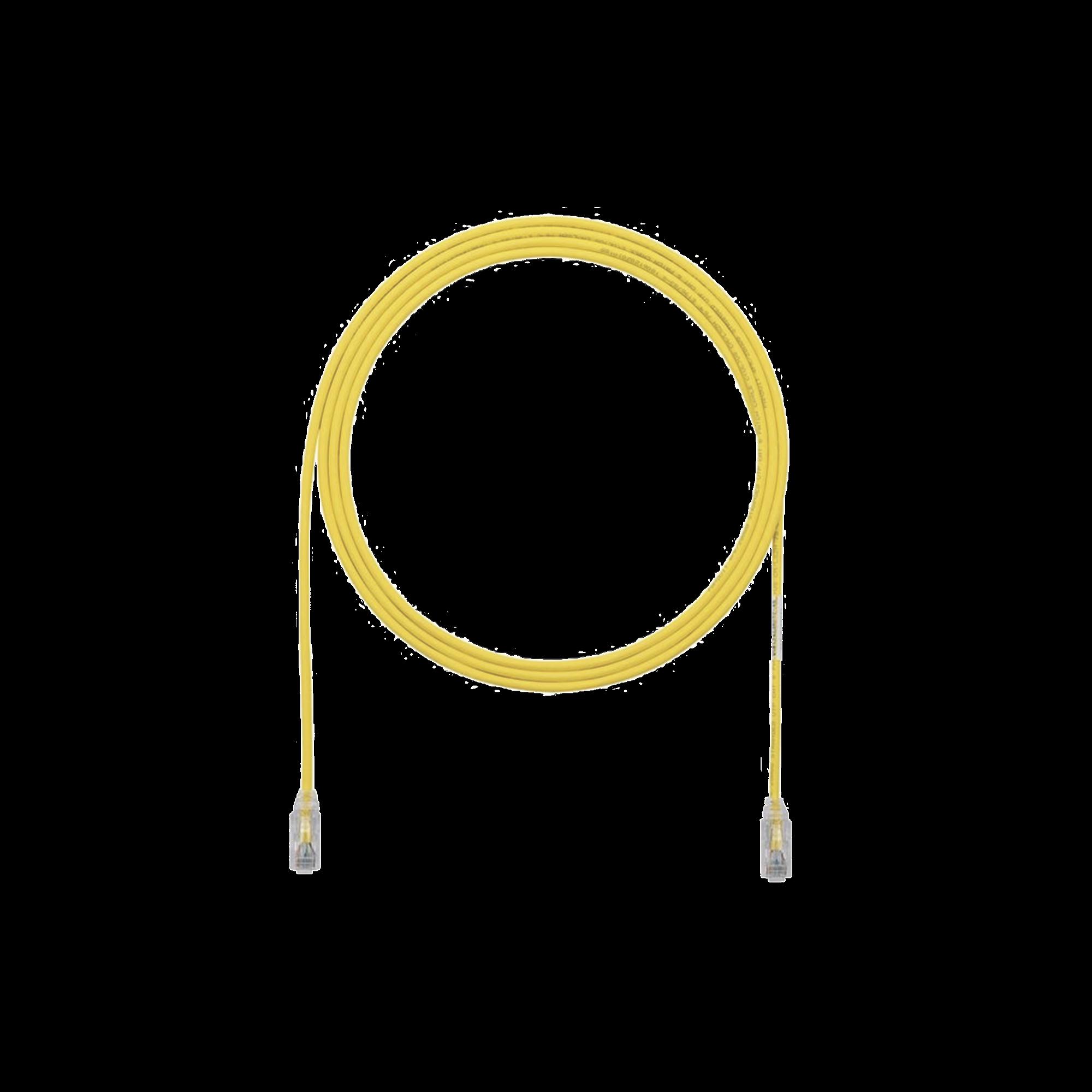 Cable de Parcheo TX6, UTP Cat6, Diámetro Reducido (28AWG), Color Amarillo, 3ft