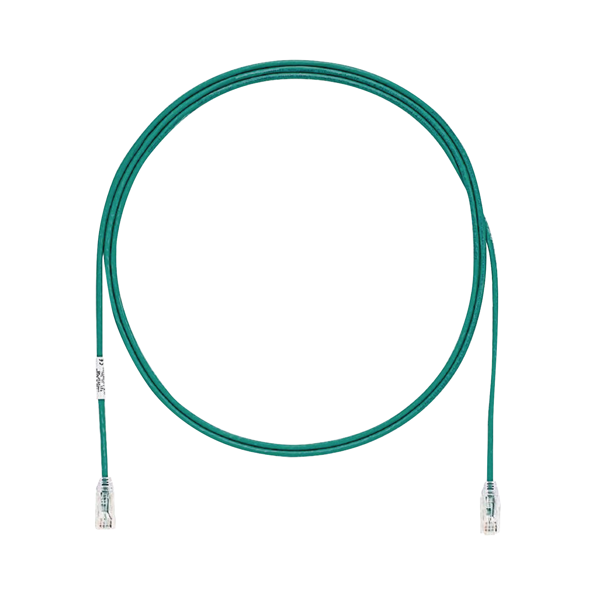 Cable de Parcheo TX6, UTP Cat6, Diámetro Reducido (28AWG), Color Verde, 5ft