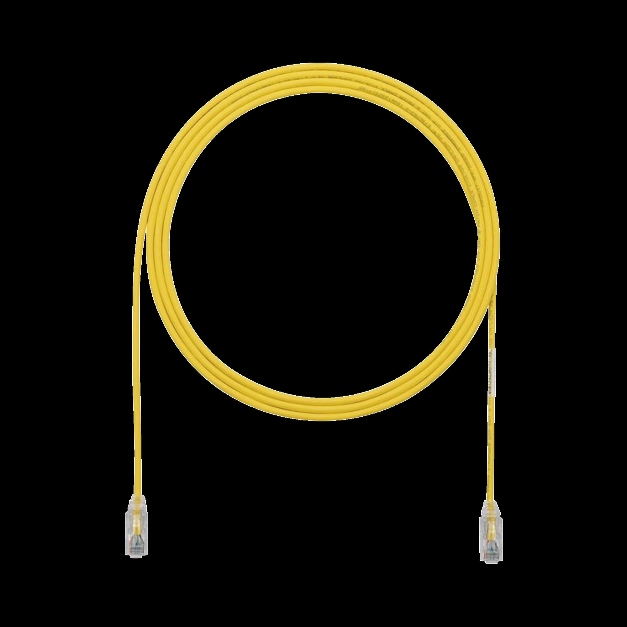 Cable de Parcheo TX6, UTP Cat6, Diámetro Reducido (28AWG), Color Amarillo, 7ft