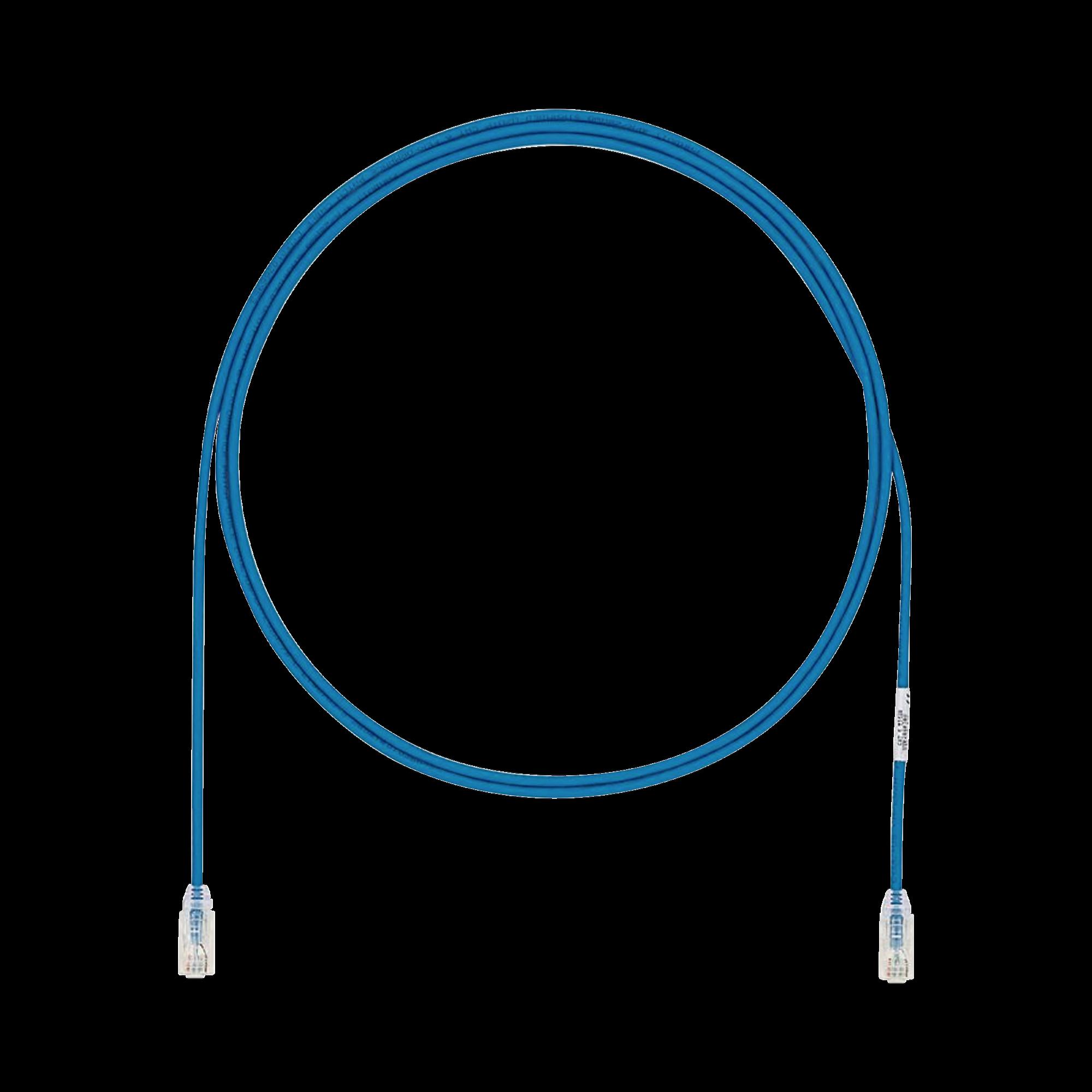 Cable de Parcheo UTP Cat6A, CM/LSZH, Diámetro Reducido (28AWG), Color Azul, 15ft