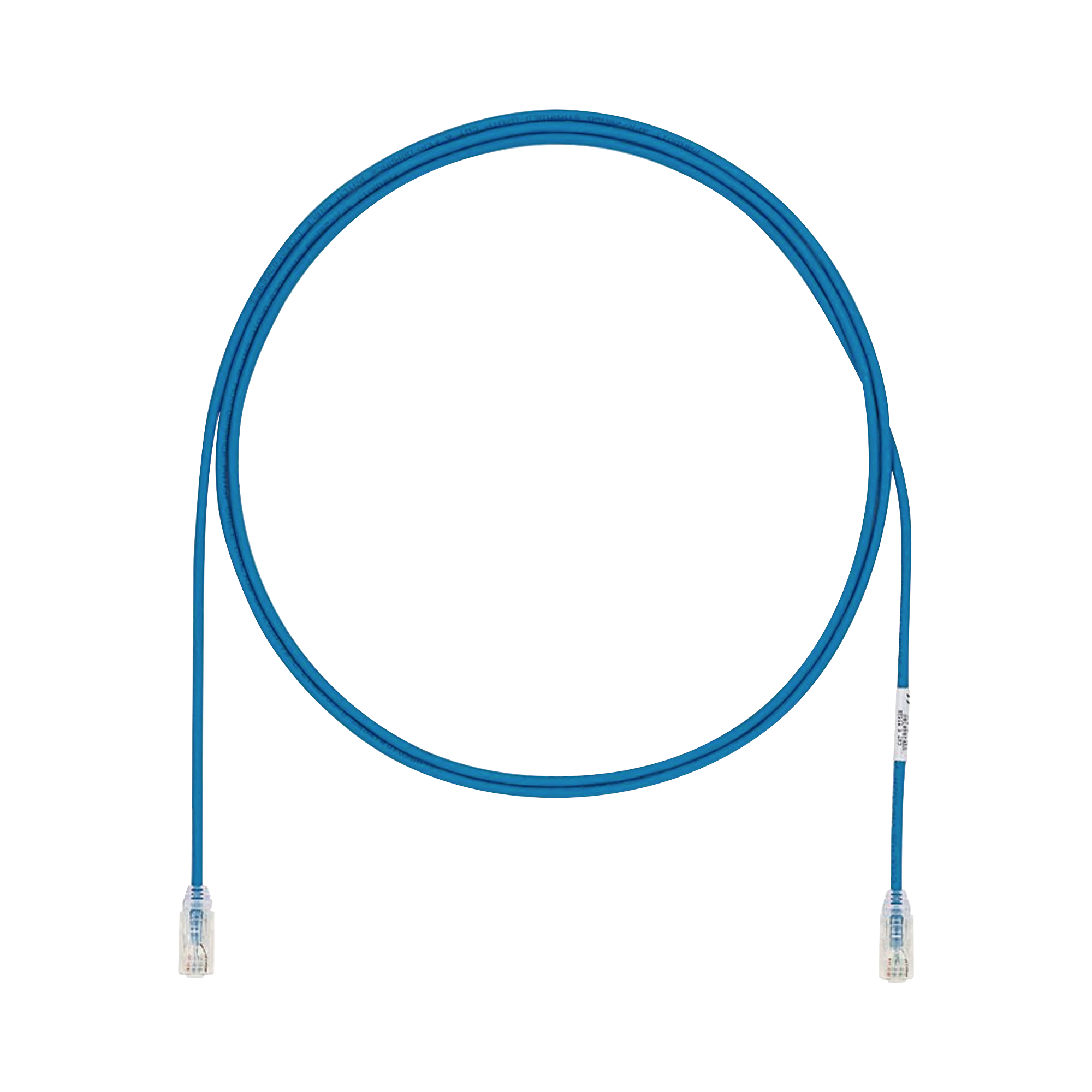 Cable de Parcheo UTP Cat6A, CM/LSZH, Diámetro Reducido (28AWG), Color Azul, 3ft