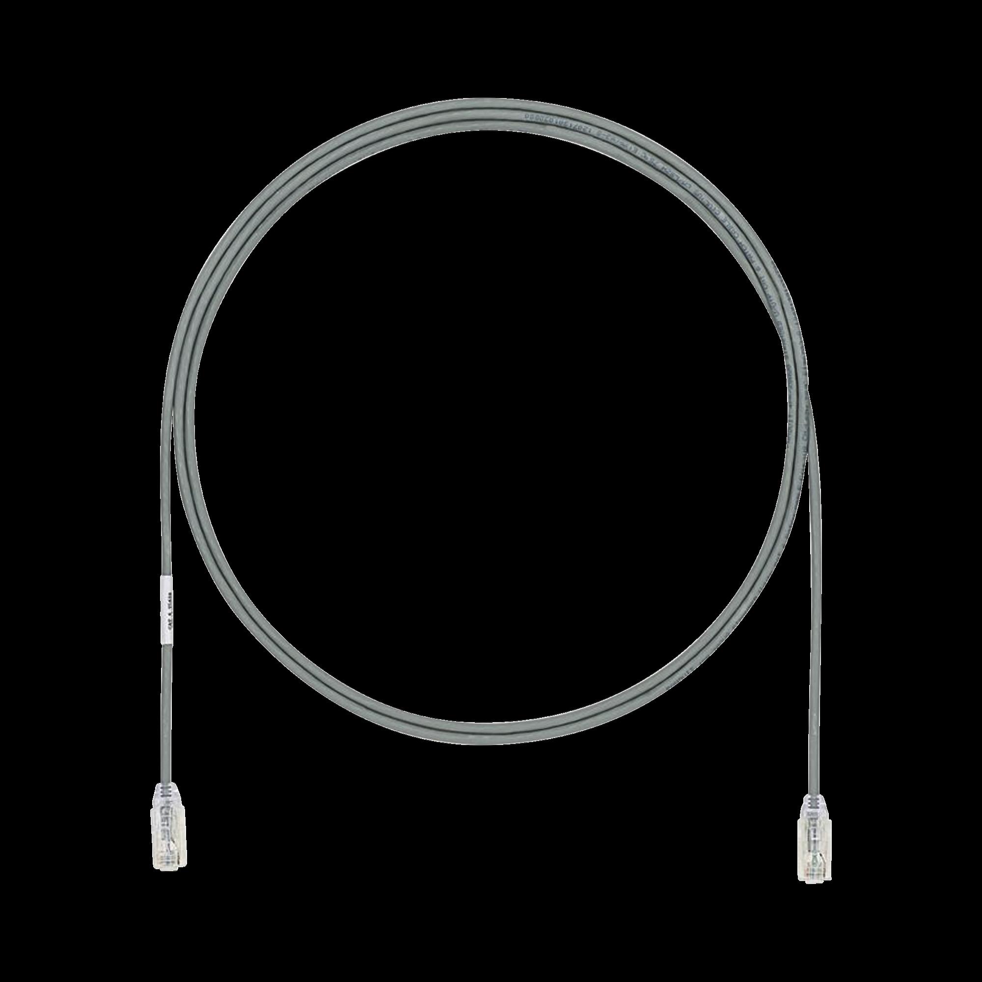 Cable de Parcheo UTP Cat6A, CM/LSZH, Diámetro Reducido (28AWG), Color Gris, 6ft