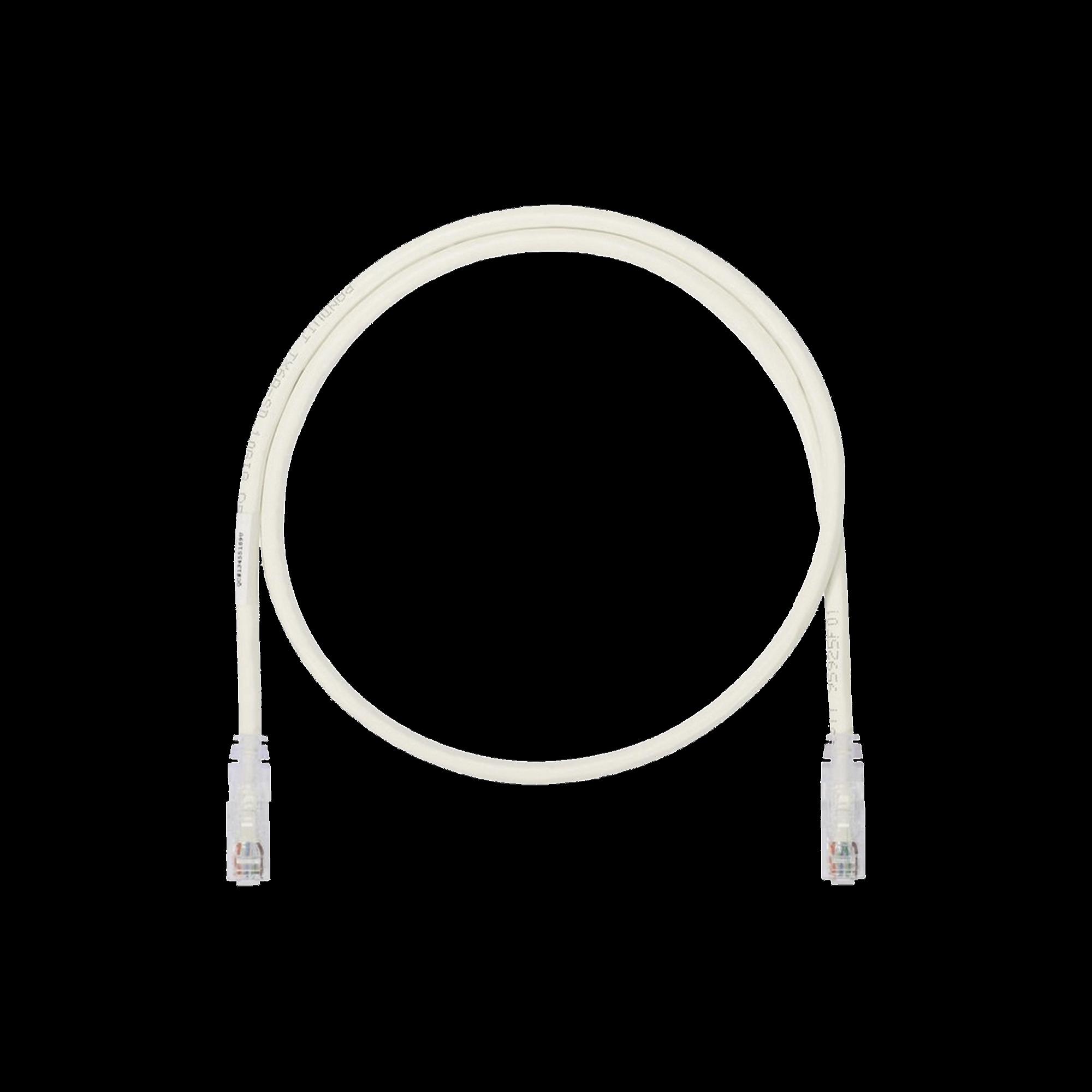 Cable de Parcheo UTP, Cat6A, 26 AWG, CM, Color Blanco Mate, 10ft