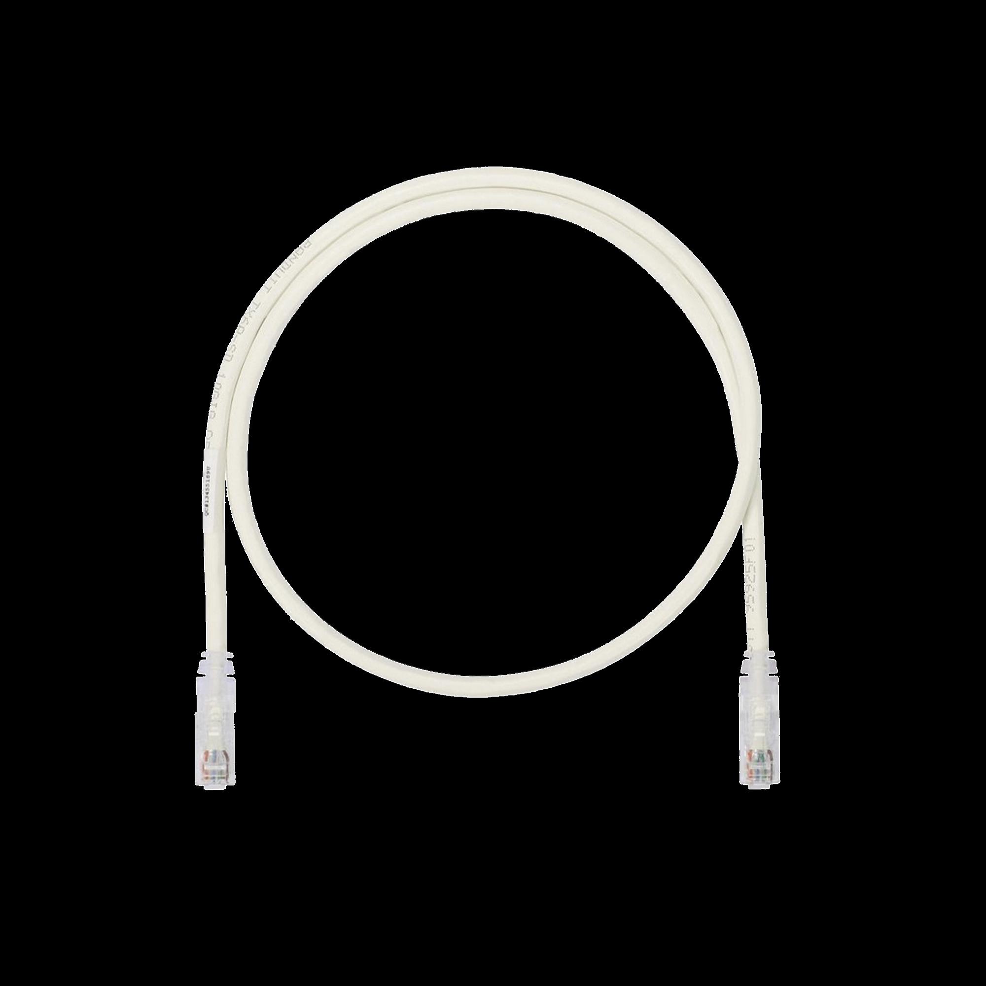 Cable de Parcheo UTP, Cat6A, 26 AWG, CM, Color Blanco Mate, 5ft