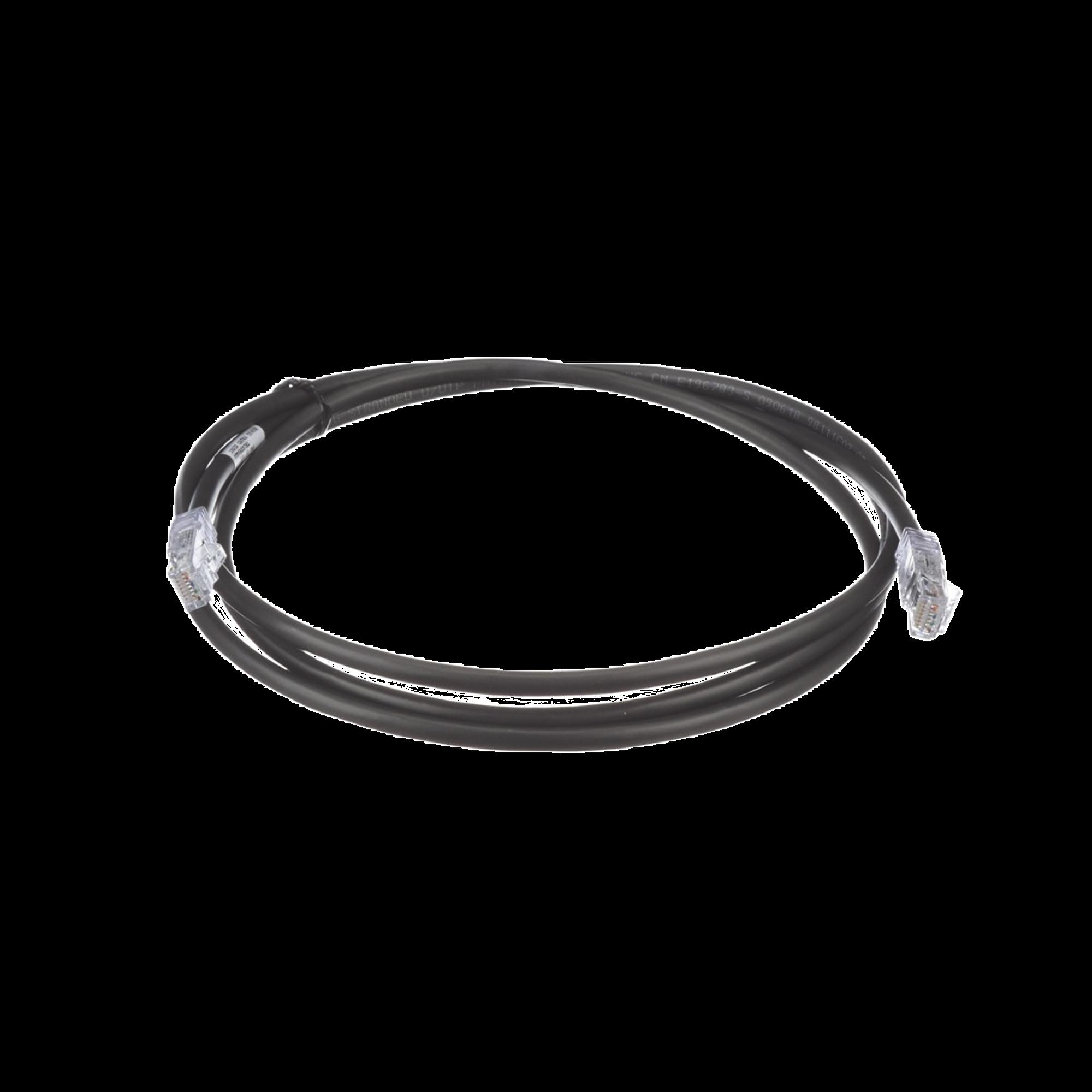 Cable de Parcheo UTP, Cat6A, 24 AWG, CM, Color Negro, 5ft