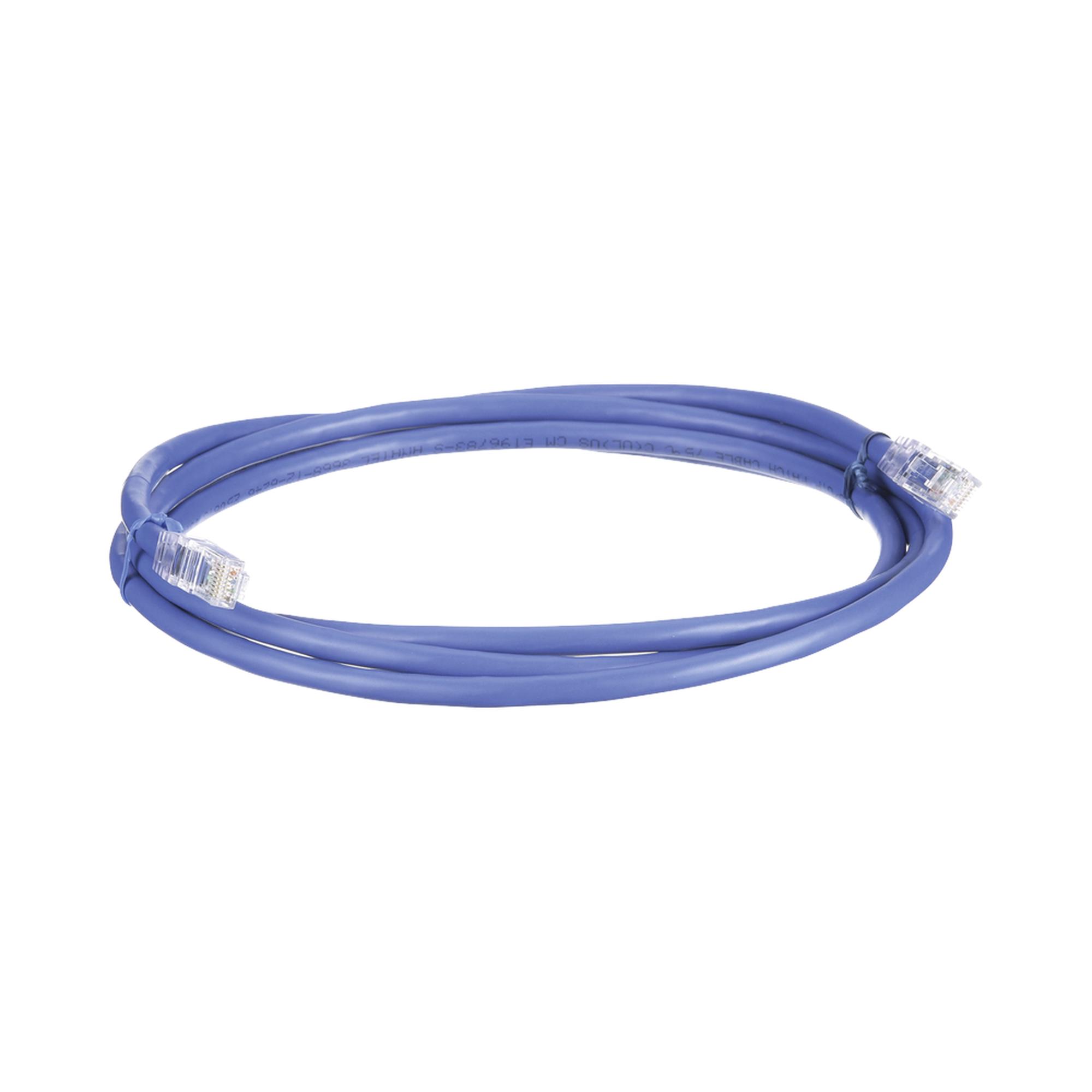 Cable de Parcheo UTP, Cat6A, 24 AWG, CM, Color Azul, 5ft