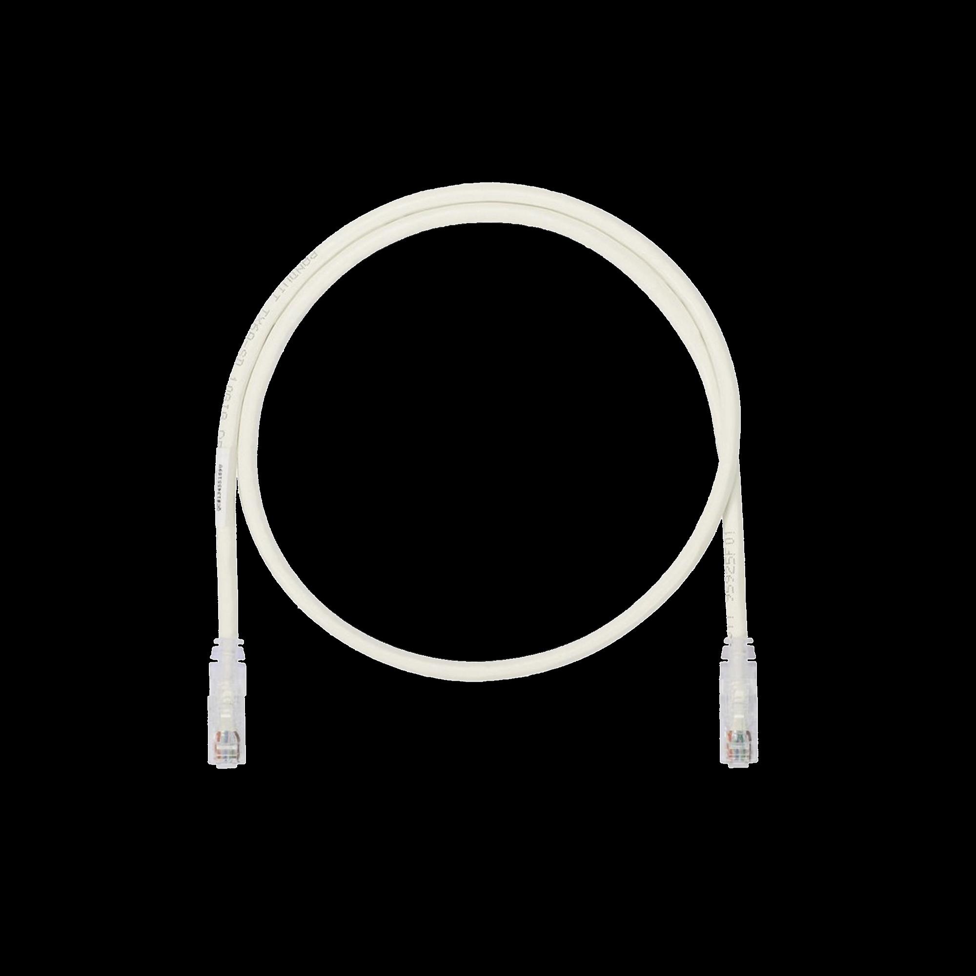 Cable de Parcheo UTP, Cat6A, 24 AWG, CM, Color Blanco, 7ft