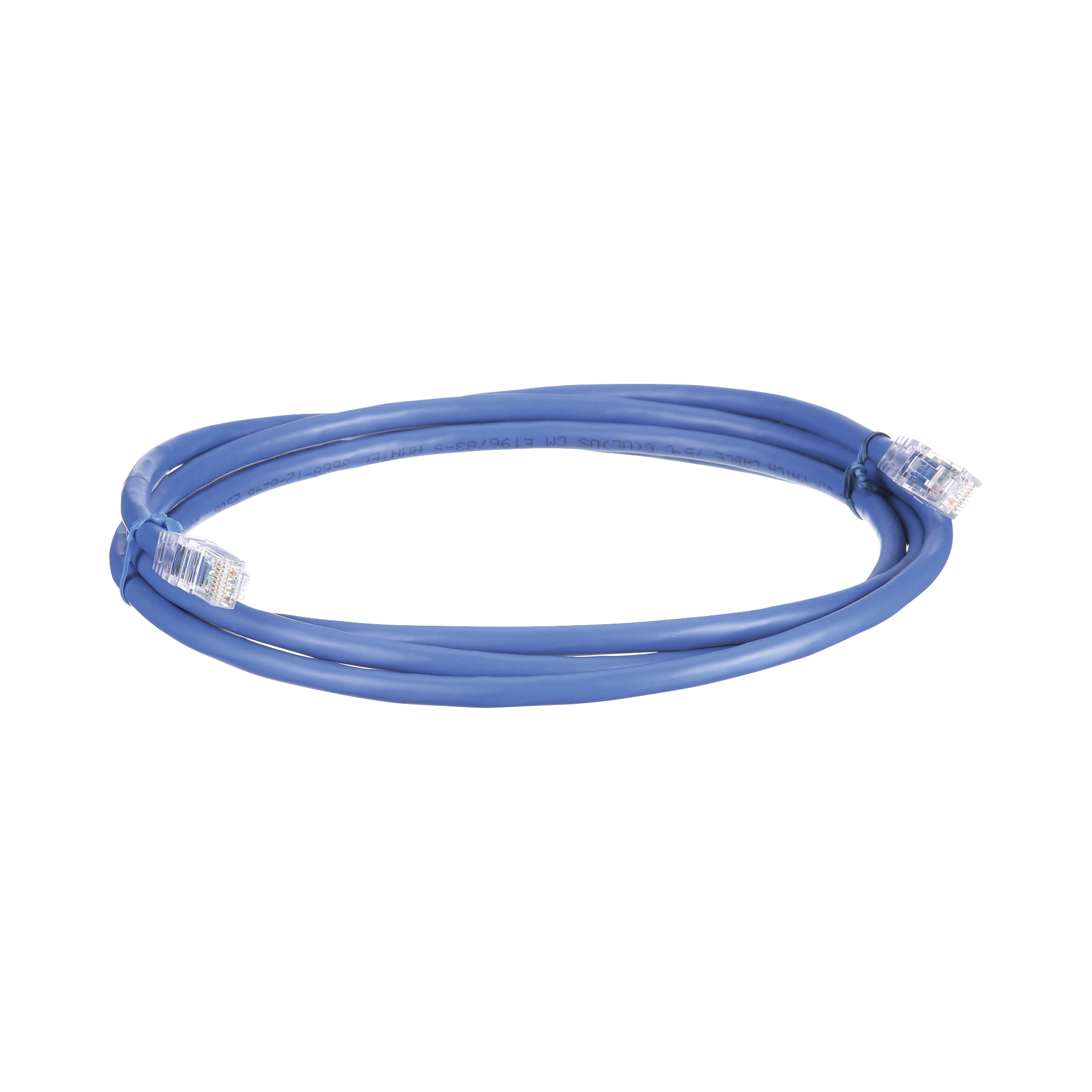 Cable de Parcheo UTP, Cat6A, 24 AWG, CM, Color Azul, 7ft