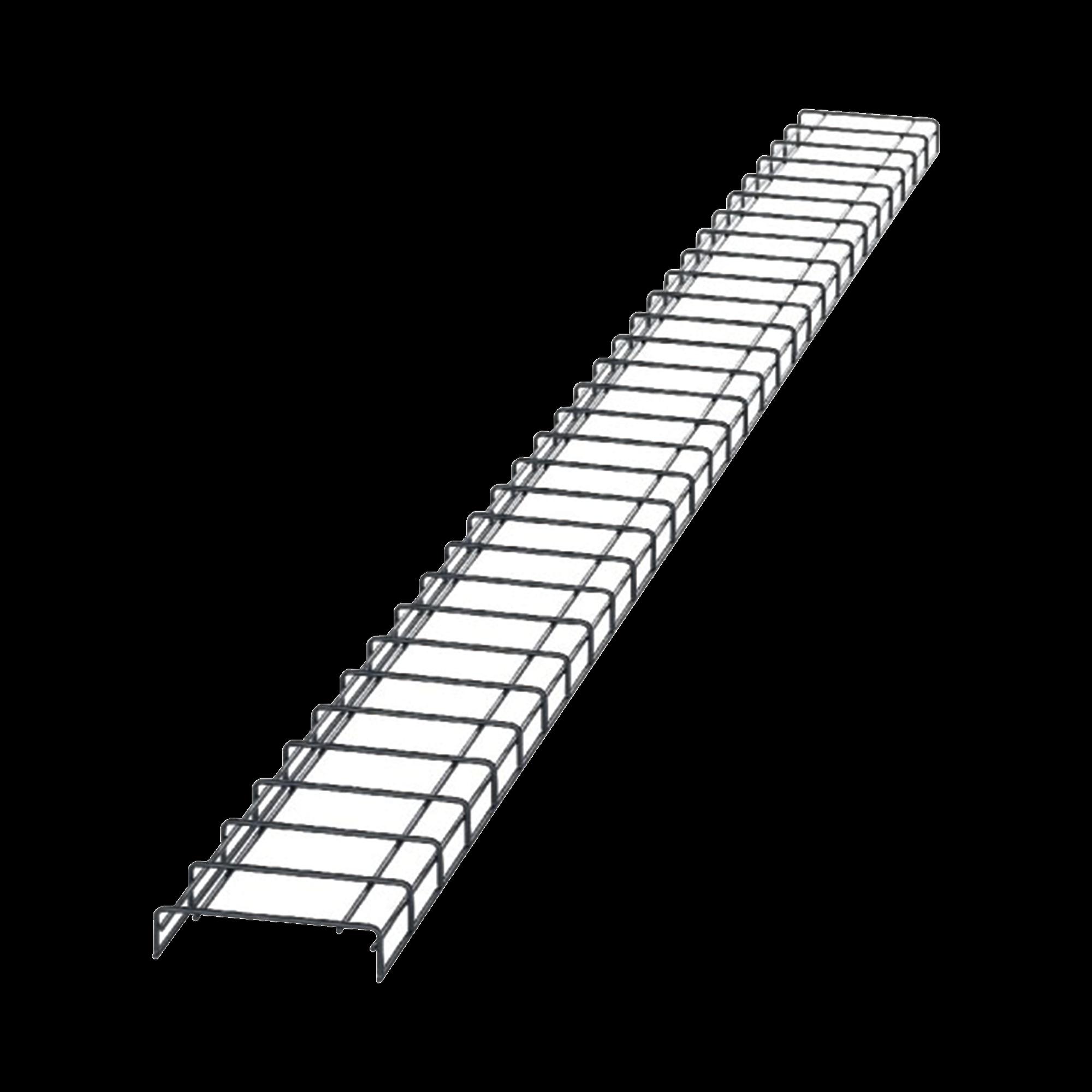 Charola para Canalización Wyr-Grid? Tipo Malla, Con Pintura Electrostática en Color Negro, 8 in (203.2 mm) de Ancho, 53.1 mm de Alto y 3 m de Largo