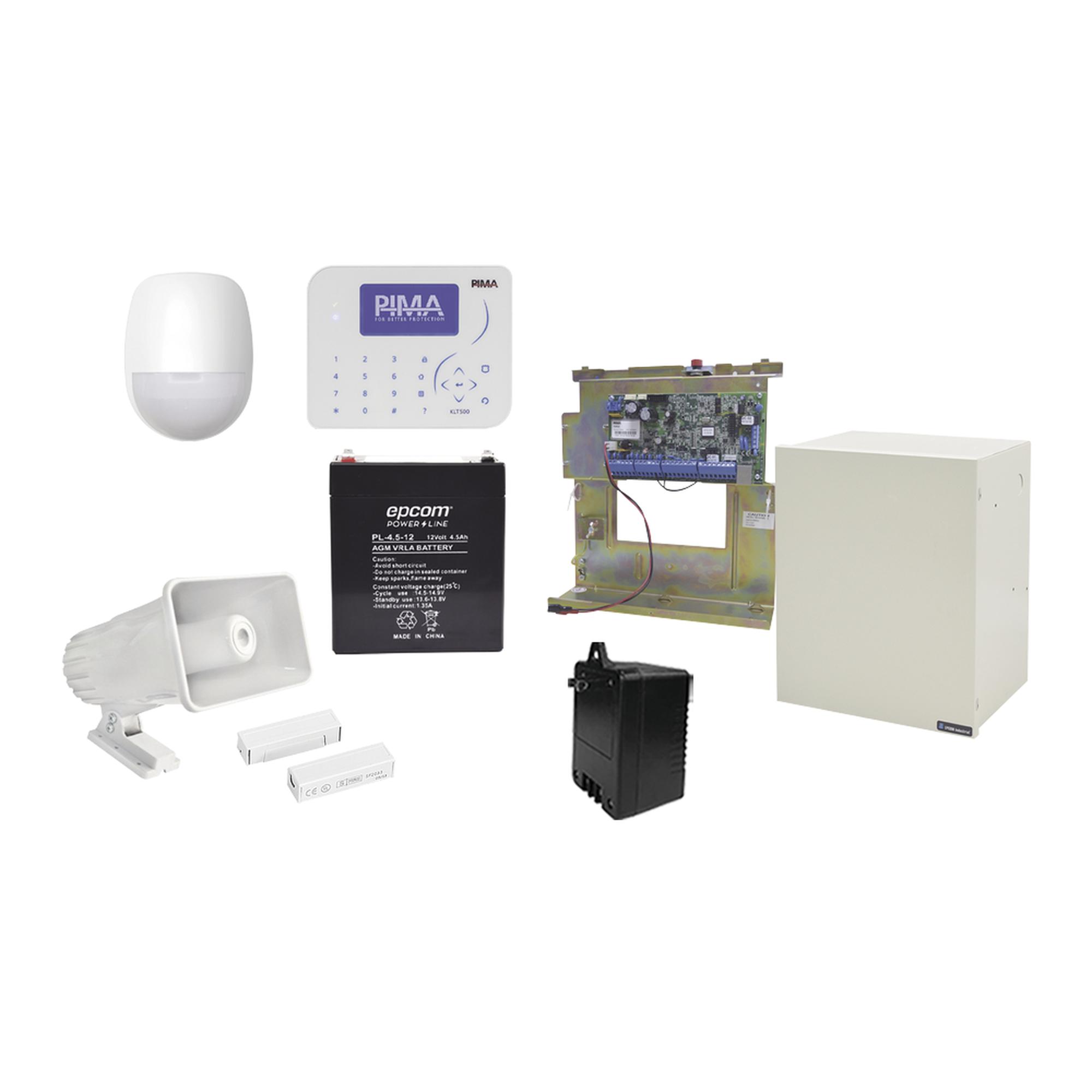 Kit de Alarma con Sensores cableados, Conexion IP con App PIMALINK3.0 Gratis!